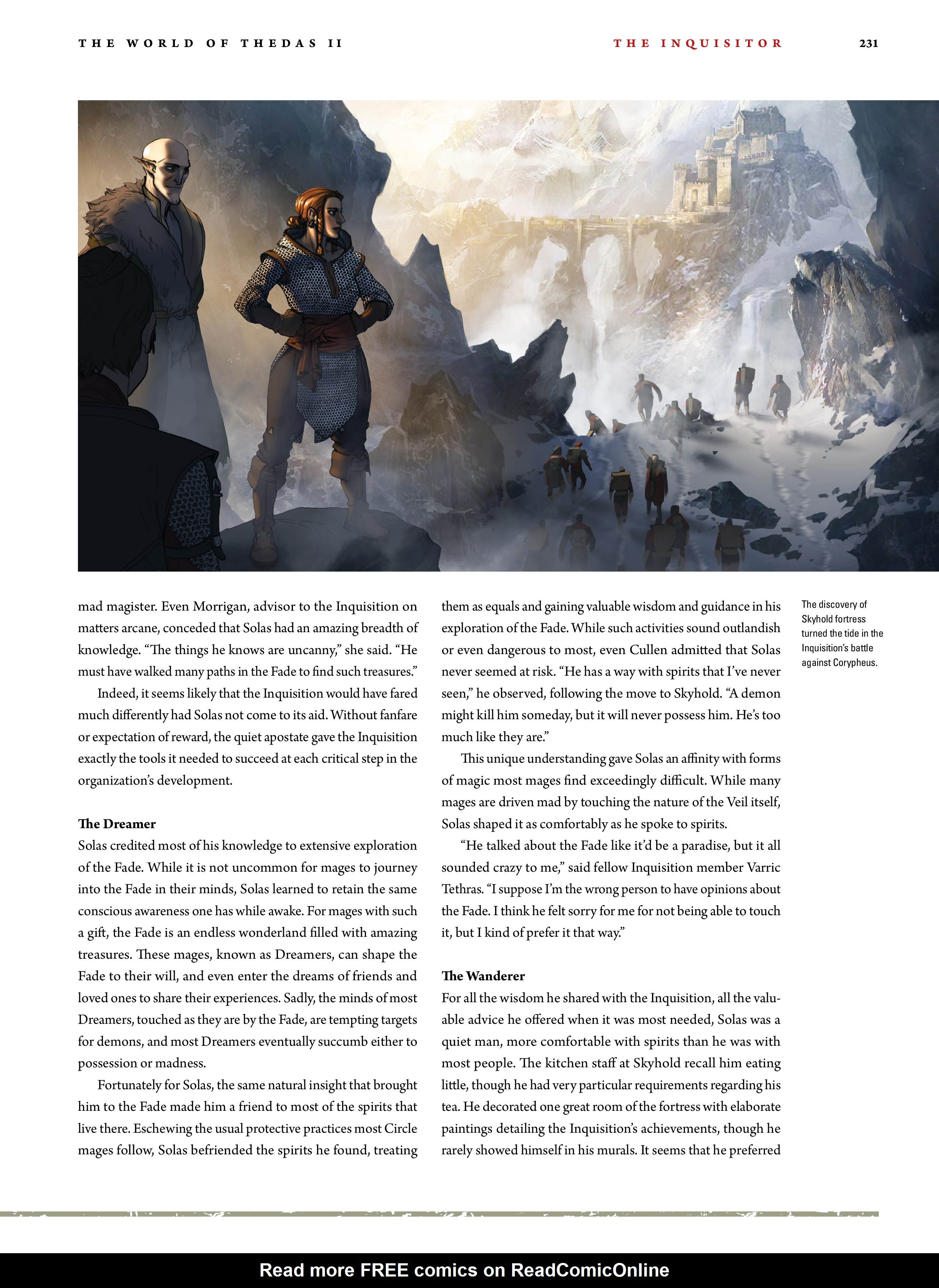 Read online Dragon Age: The World of Thedas comic -  Issue # TPB 2 - 226