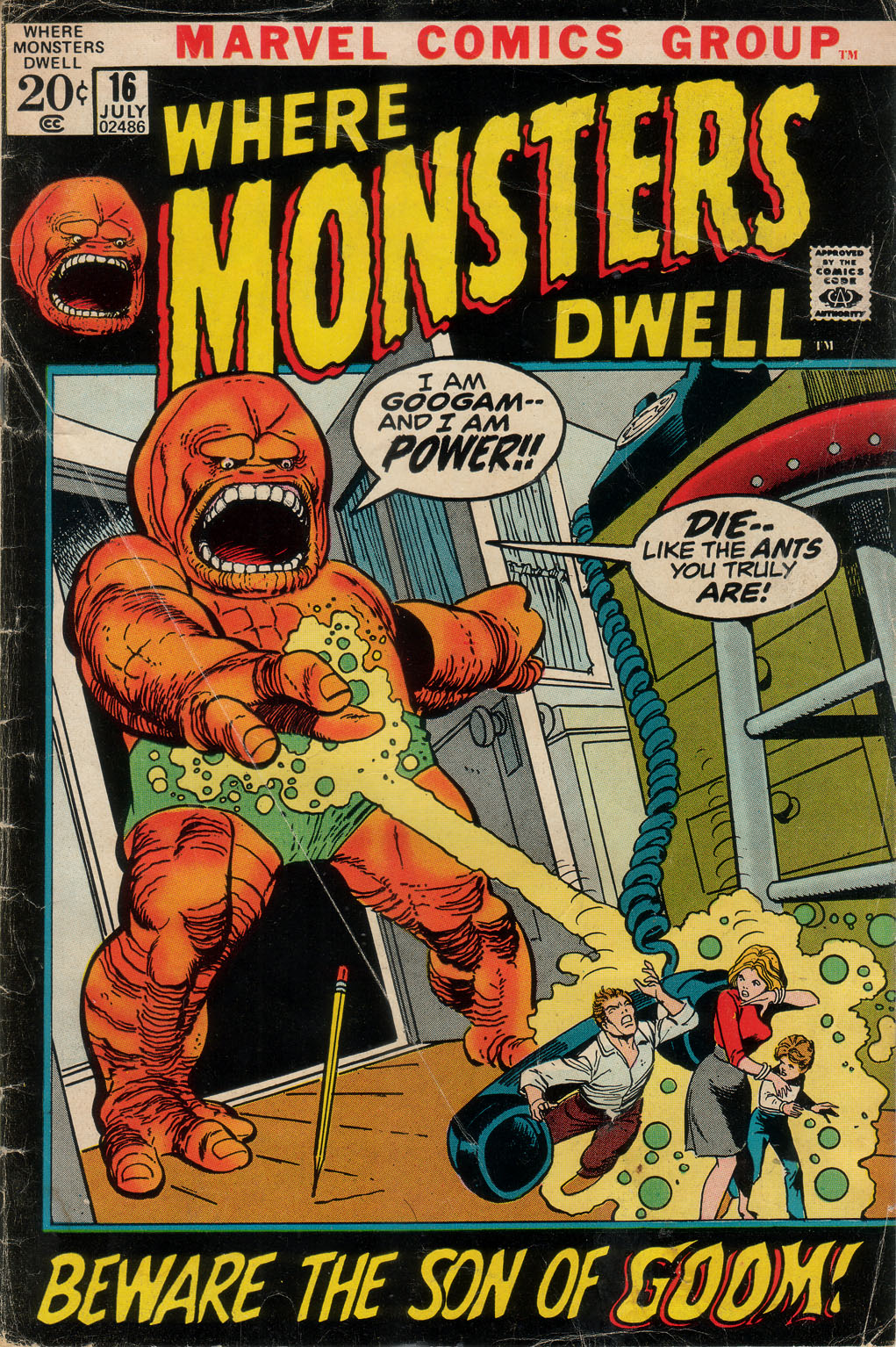 Where Monsters Dwell (1970) issue 16 - Page 1