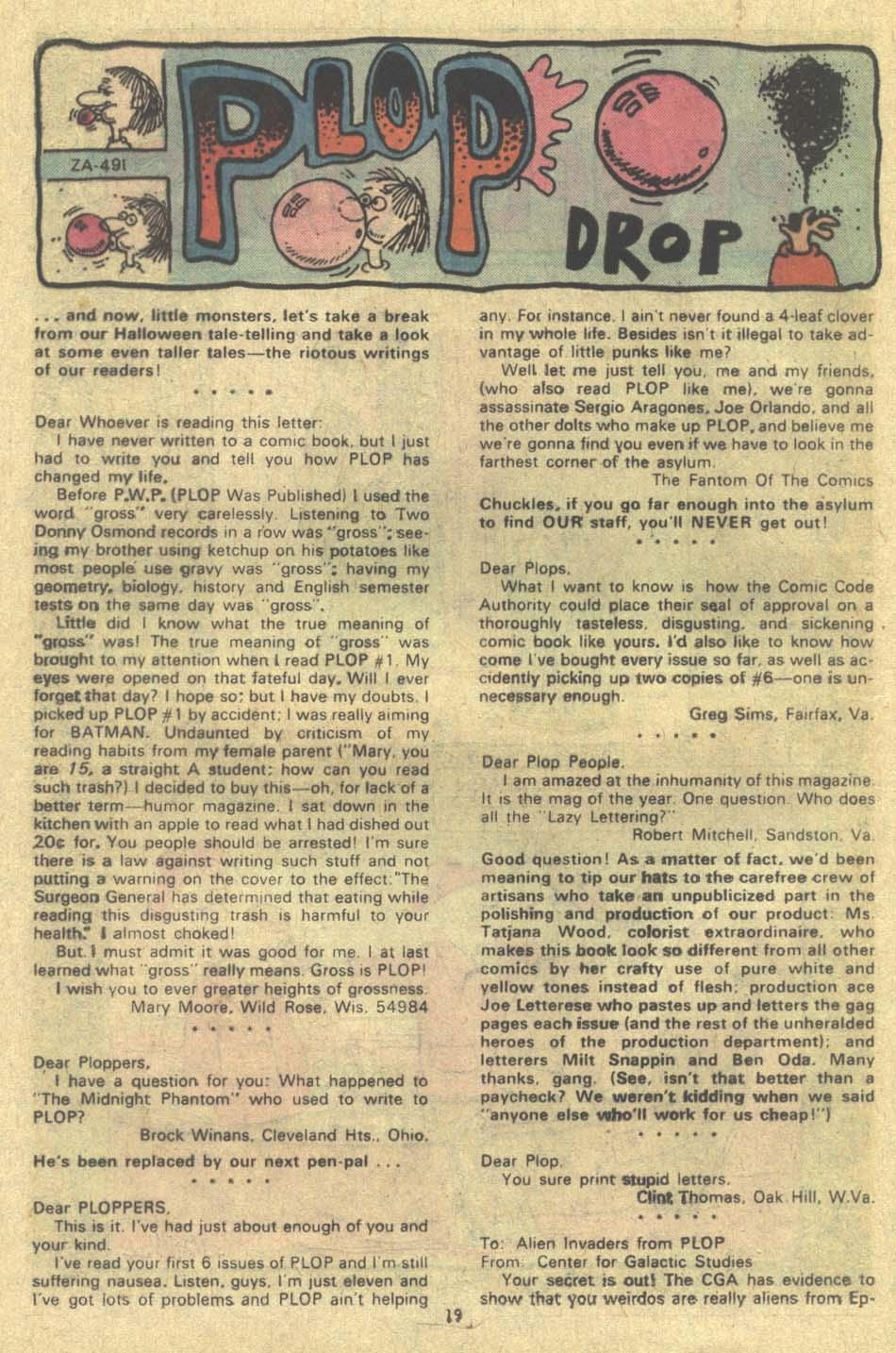 Read online Plop! comic -  Issue #9 - 20