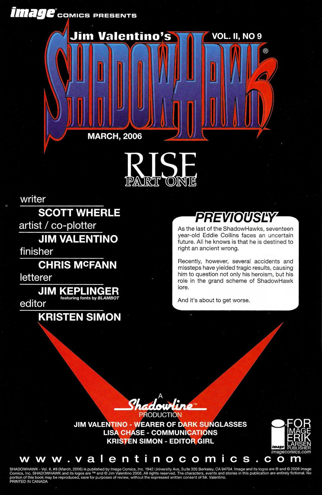 Read online ShadowHawk (2005) comic -  Issue #9 - 2