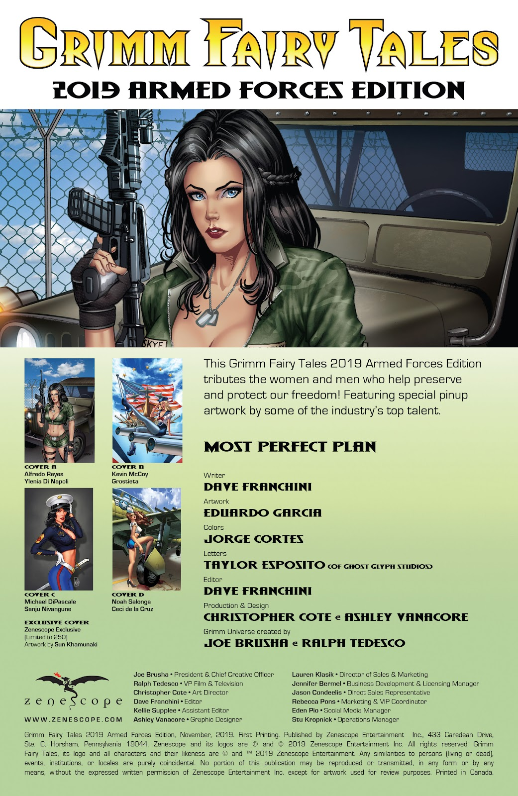 Read online Grimm Fairy Tales: 2019 Armed Forces Edition comic -  Issue # Full - 2