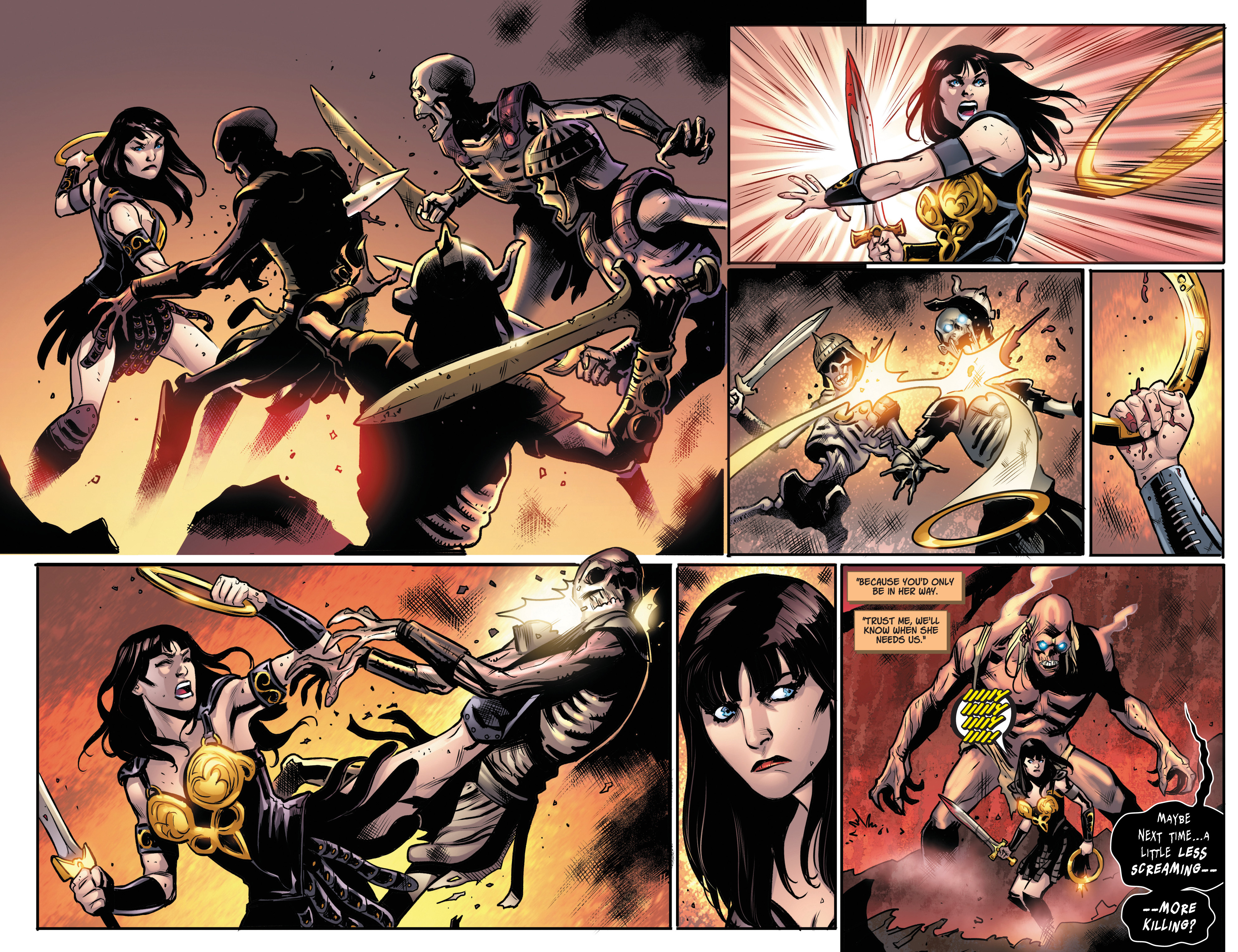 Read online Army Of Darkness/Xena: Forever…And A Day comic -  Issue #5 - 7