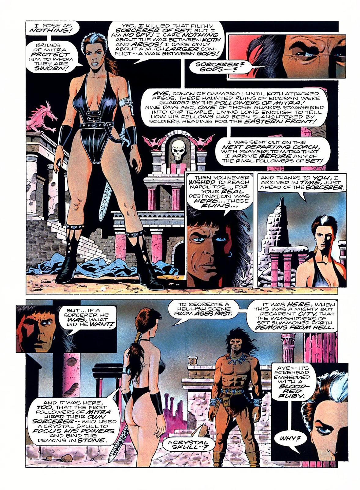Read online Marvel Graphic Novel: Conan the Barbarian: The Skull of Set comic -  Issue # Full - 40