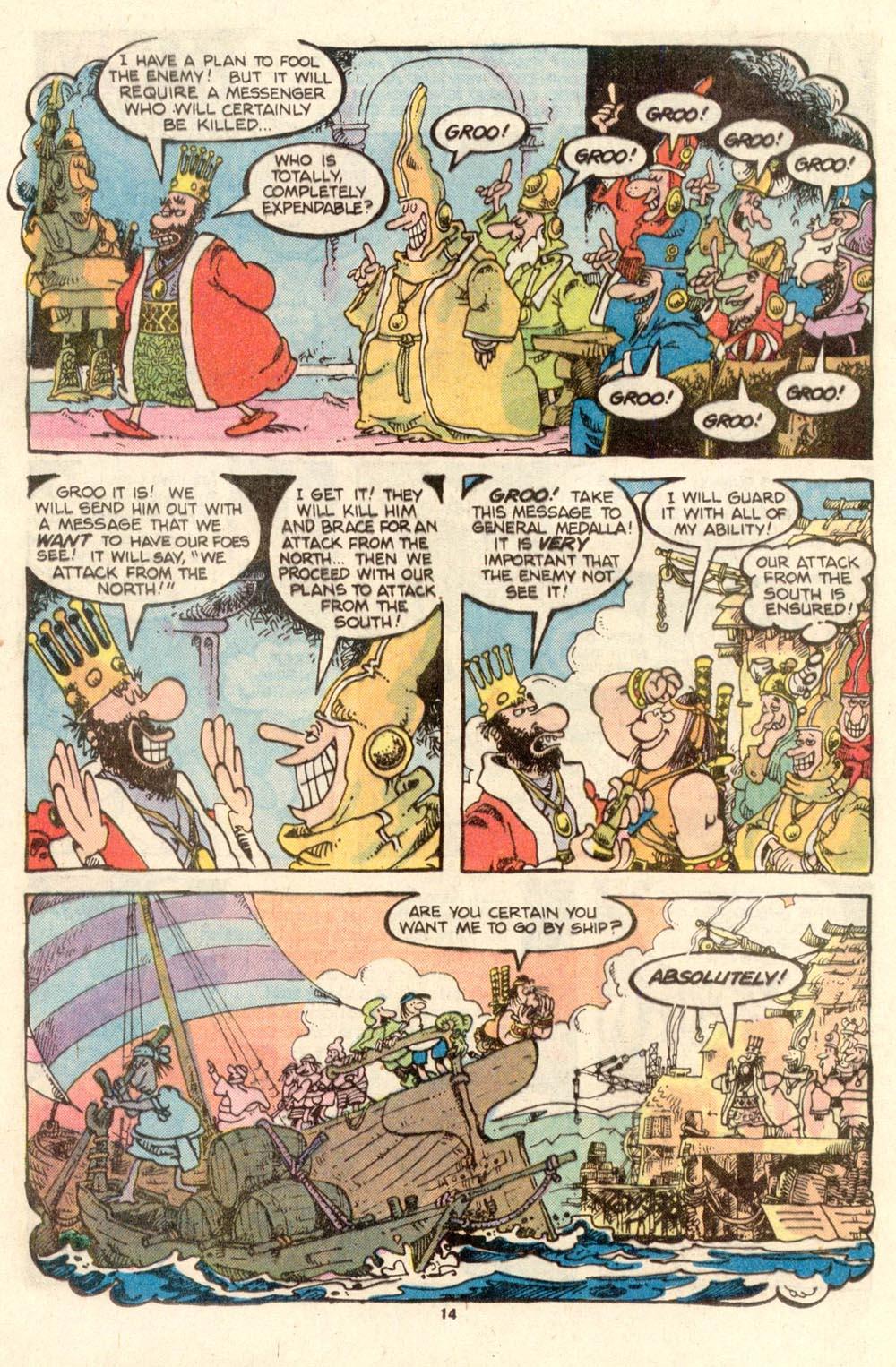 Read online Sergio Aragonés Groo the Wanderer comic -  Issue #27 - 14