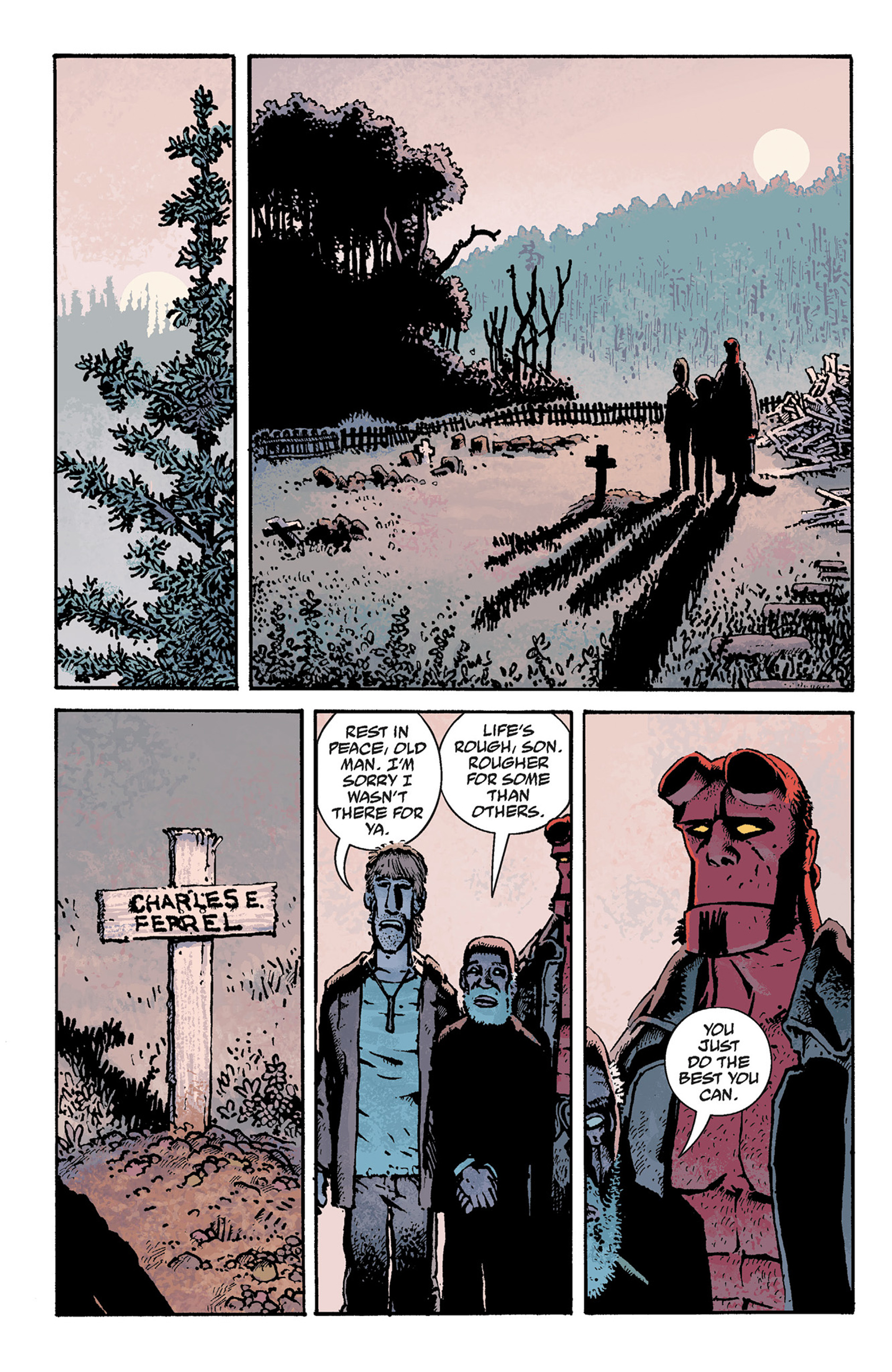 Read online Hellboy: The Crooked Man and Others comic -  Issue # TPB - 76