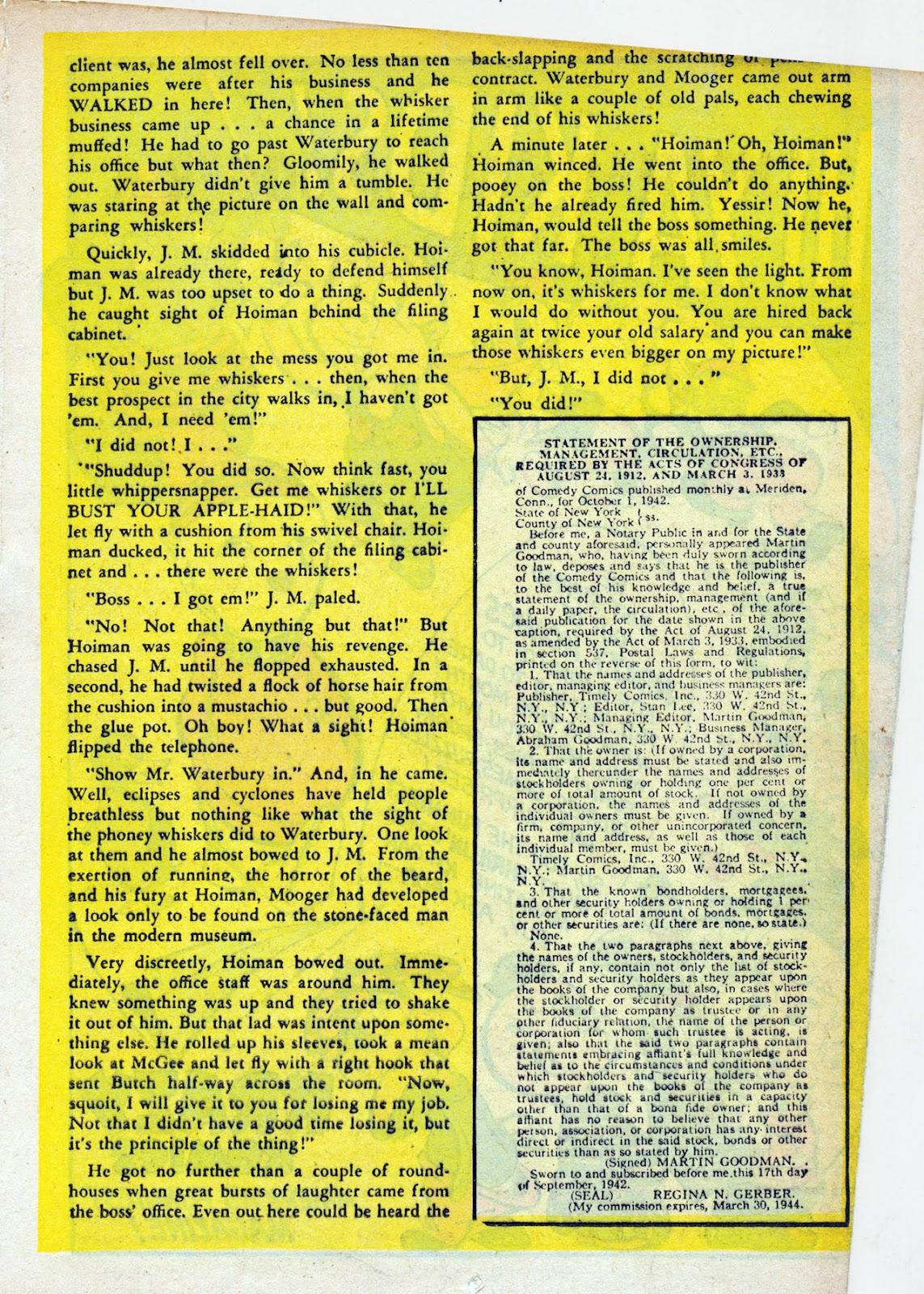 Read online Comedy Comics (1942) comic -  Issue #13 - 34