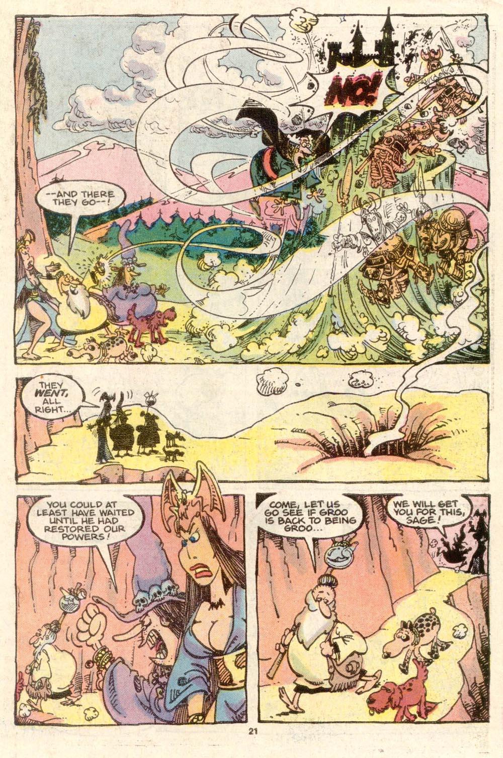 Read online Sergio Aragonés Groo the Wanderer comic -  Issue #34 - 22