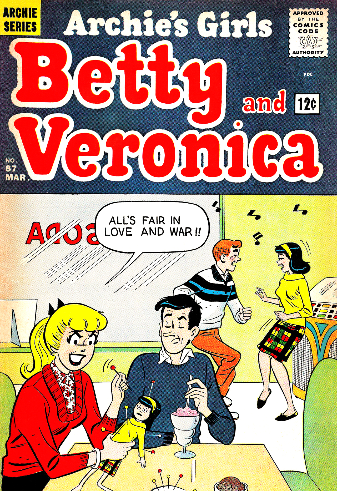 Read online Archie's Girls Betty and Veronica comic -  Issue #87 - 1