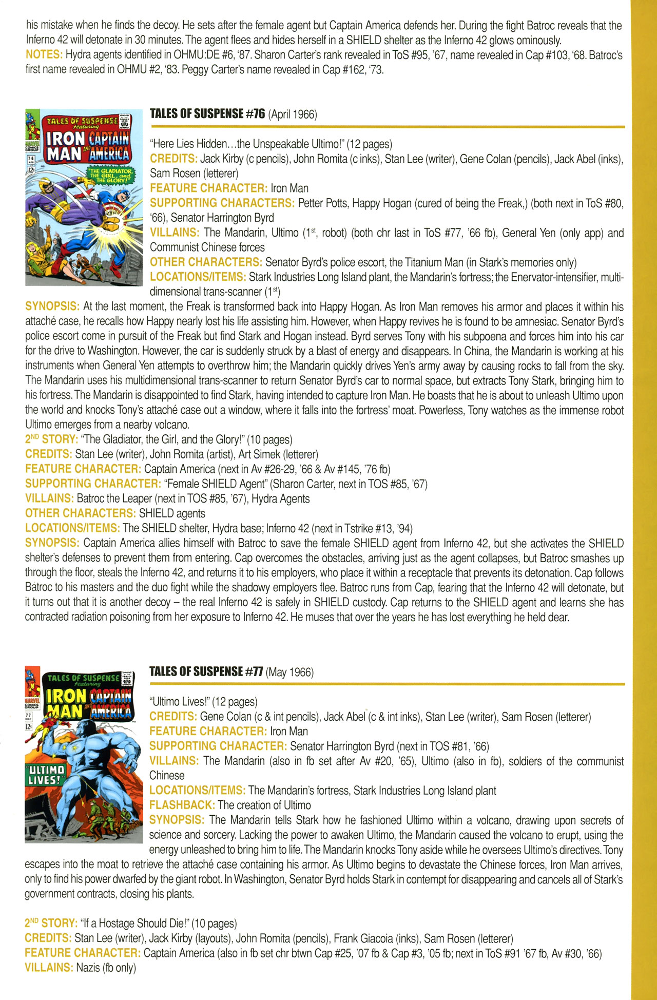 Read online Official Index to the Marvel Universe comic -  Issue #2 - 25