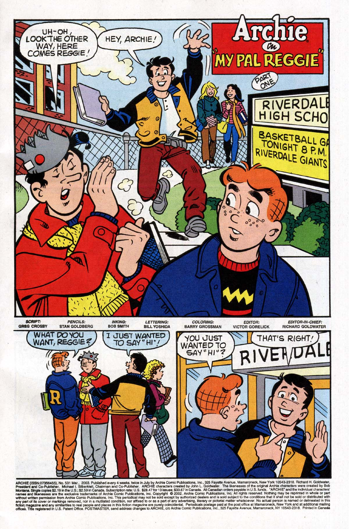 Read online Archie (1960) comic -  Issue #531 - 2