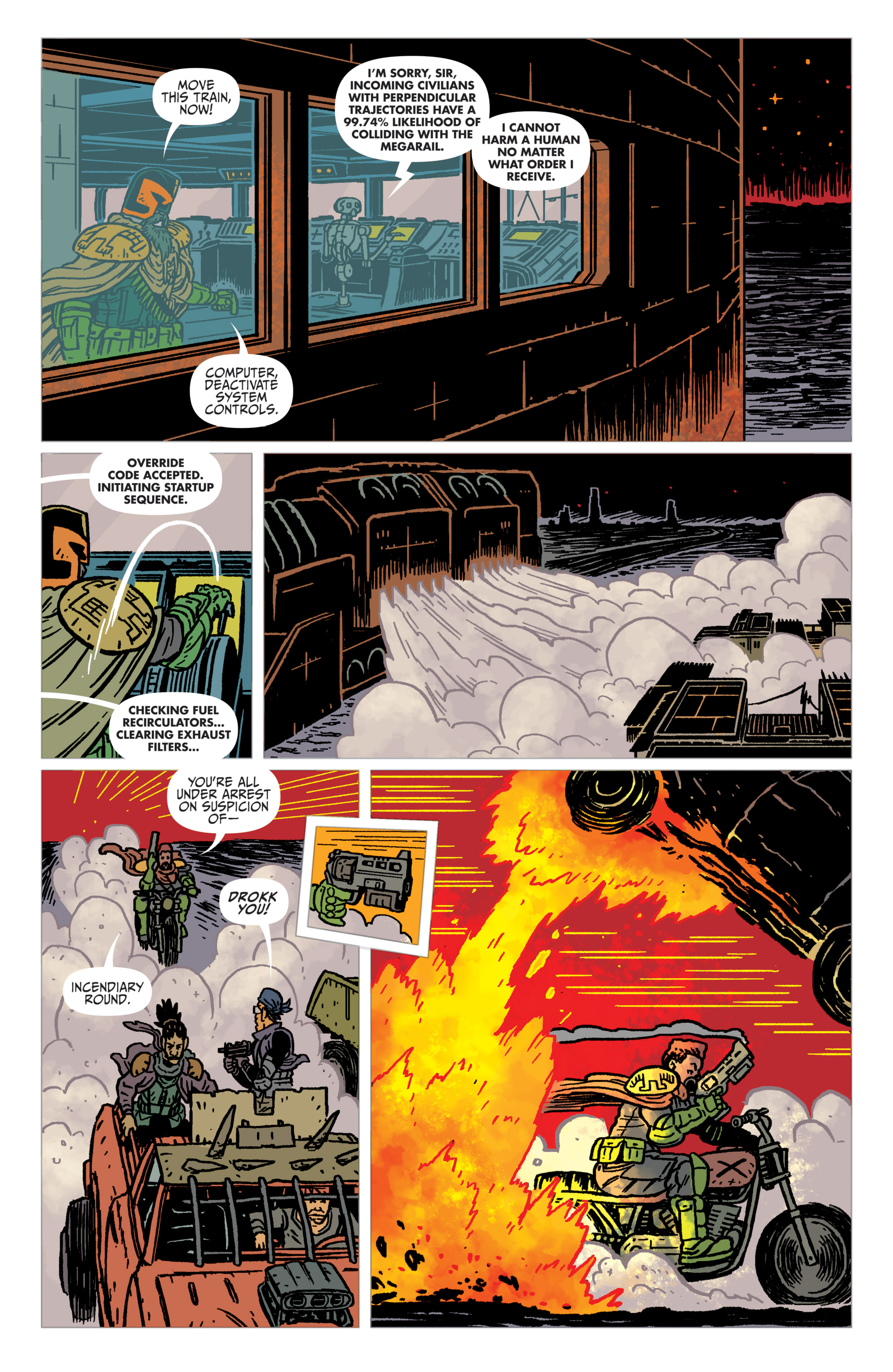 Read online Judge Dredd: The Blessed Earth comic -  Issue #2 - 22