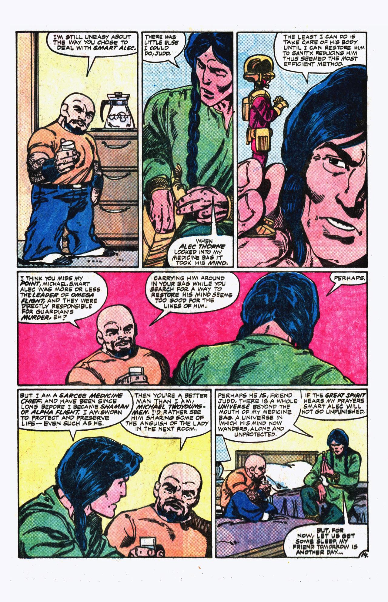 Read online Alpha Flight (1983) comic -  Issue #13 - 15