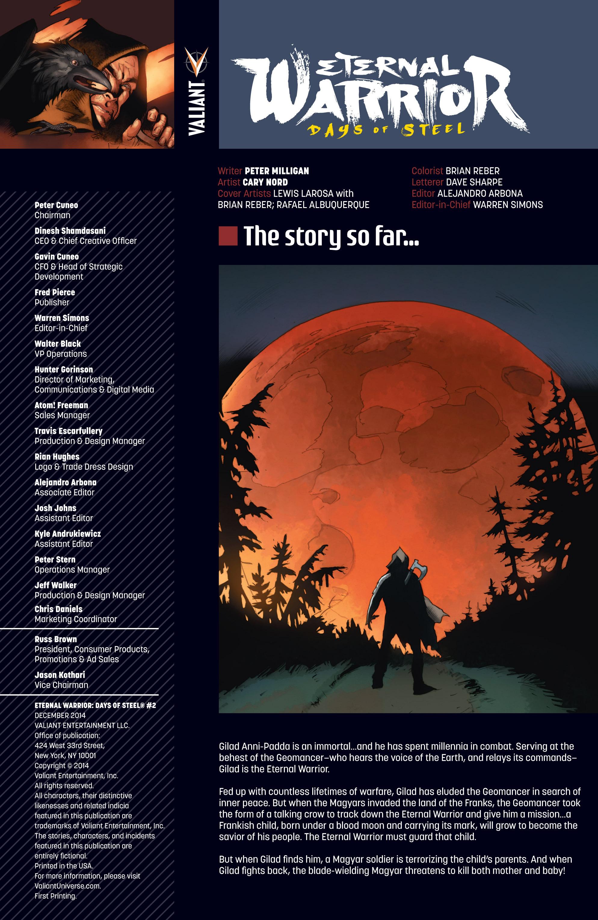 Read online Eternal Warrior: Days of Steel comic -  Issue #2 - 2