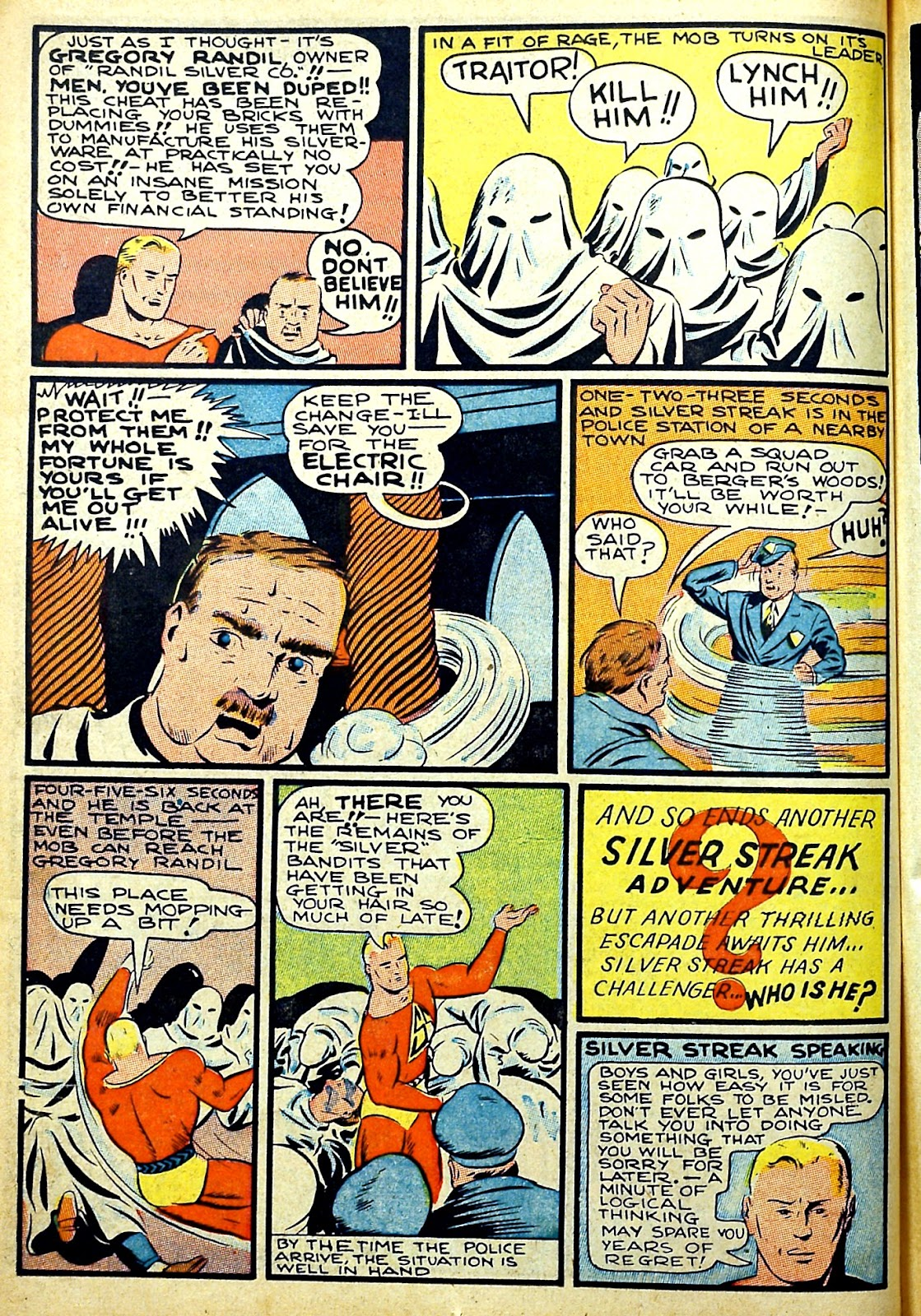 Read online Silver Streak Comics comic -  Issue #22 - 24