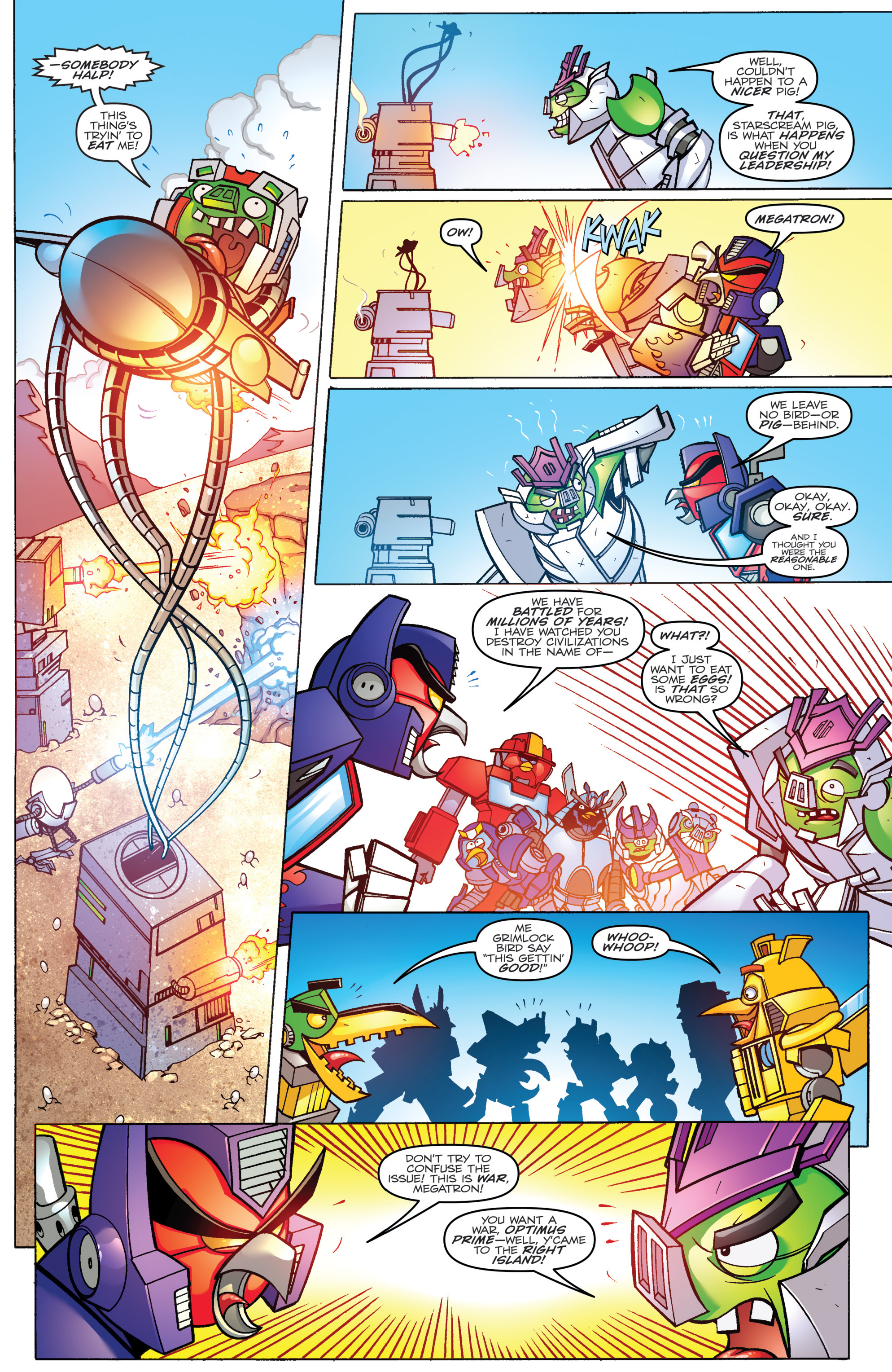 Read online Angry Birds Transformers comic -  Issue #3 - 6