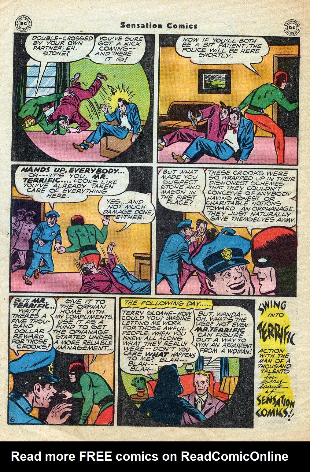 Read online Sensation (Mystery) Comics comic -  Issue #60 - 38