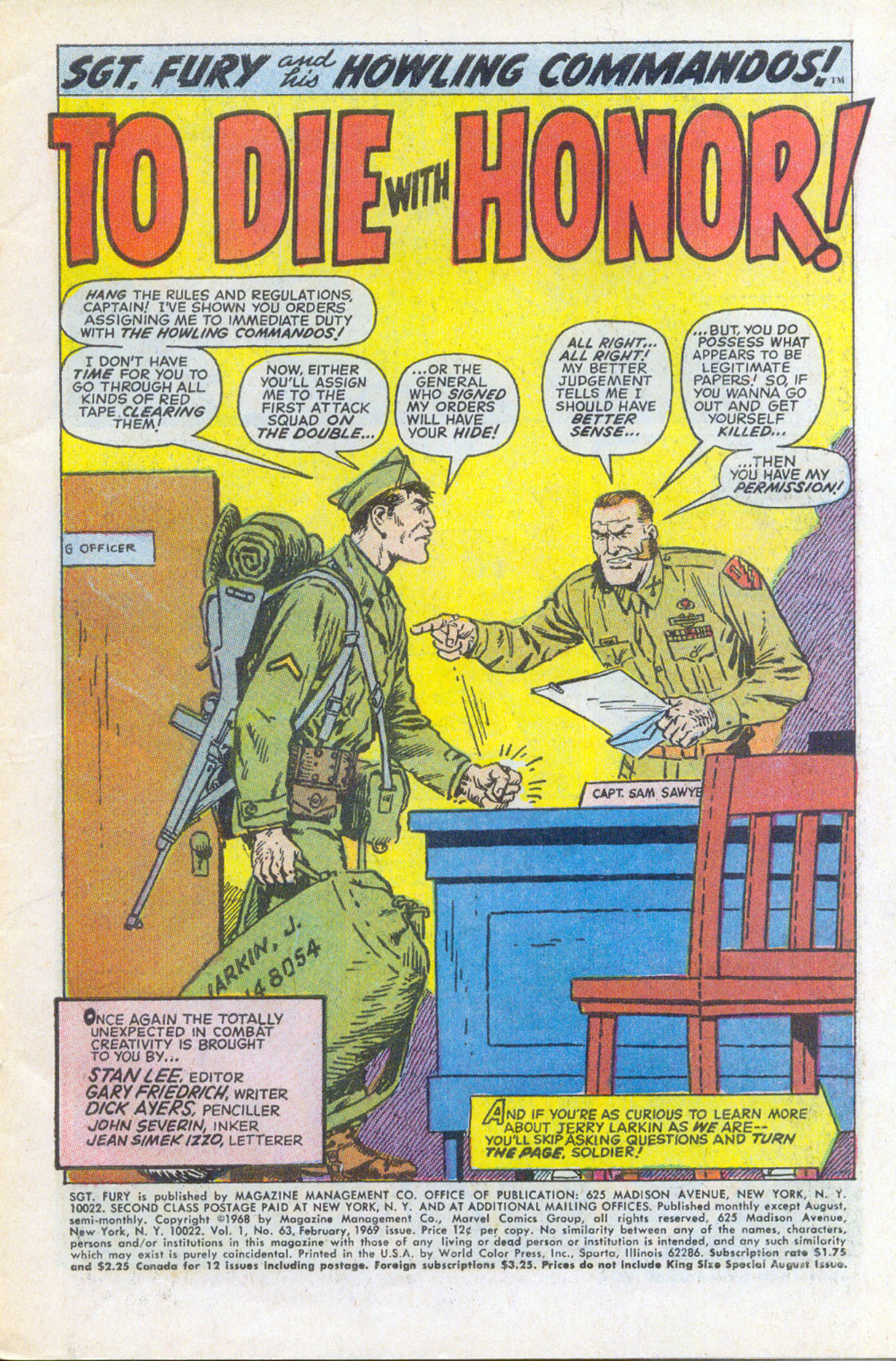 Read online Sgt. Fury comic -  Issue #63 - 3