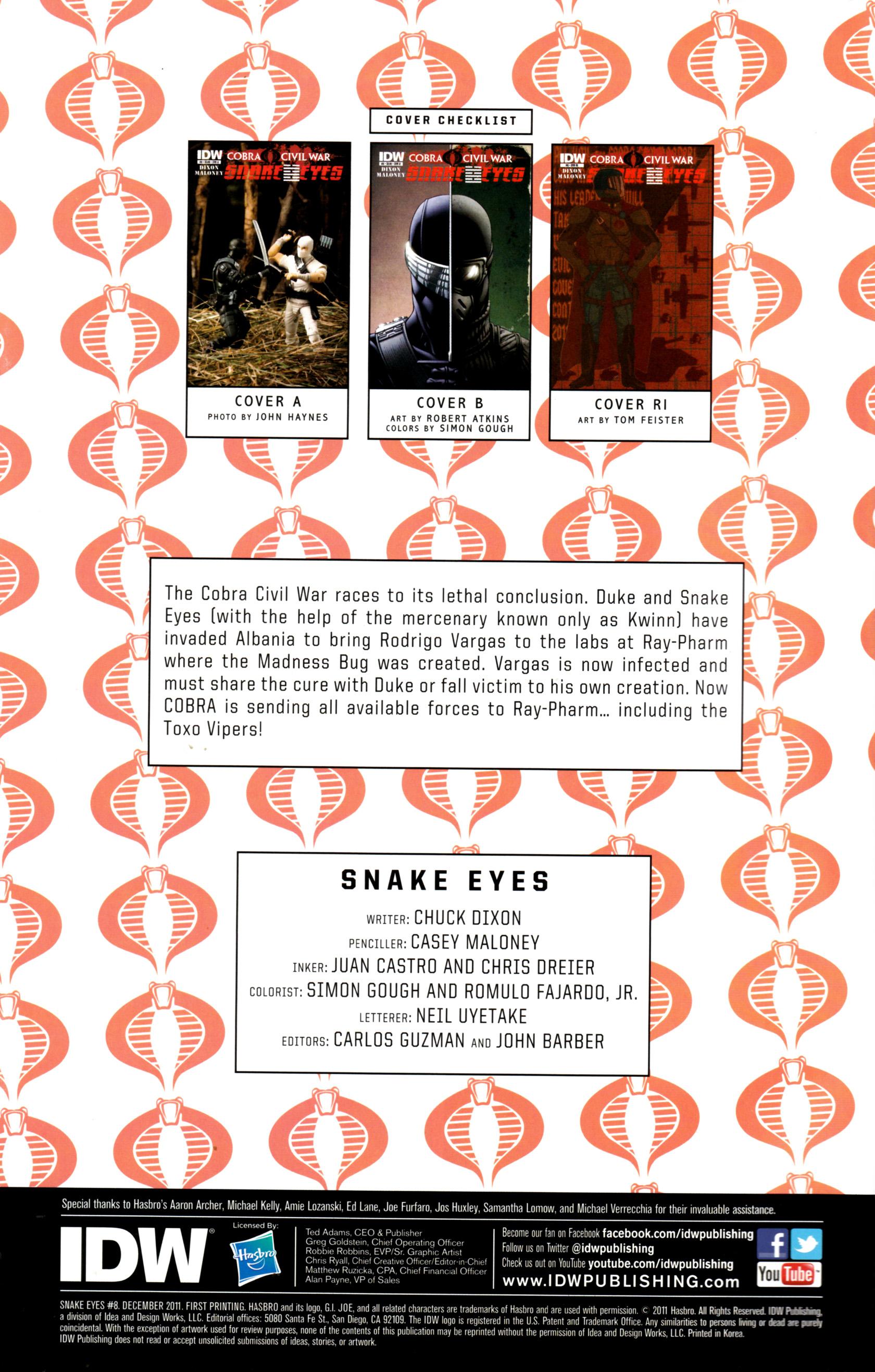 Read online G.I. Joe: Snake Eyes comic -  Issue #8 - 3