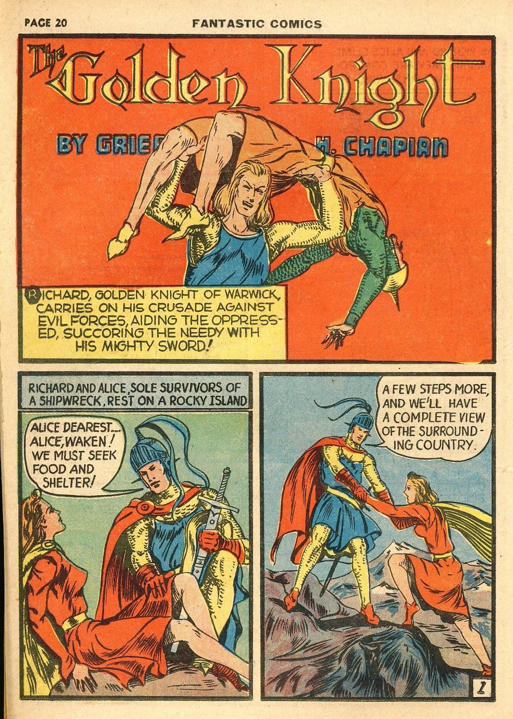 Read online Fantastic Comics comic -  Issue #10 - 21
