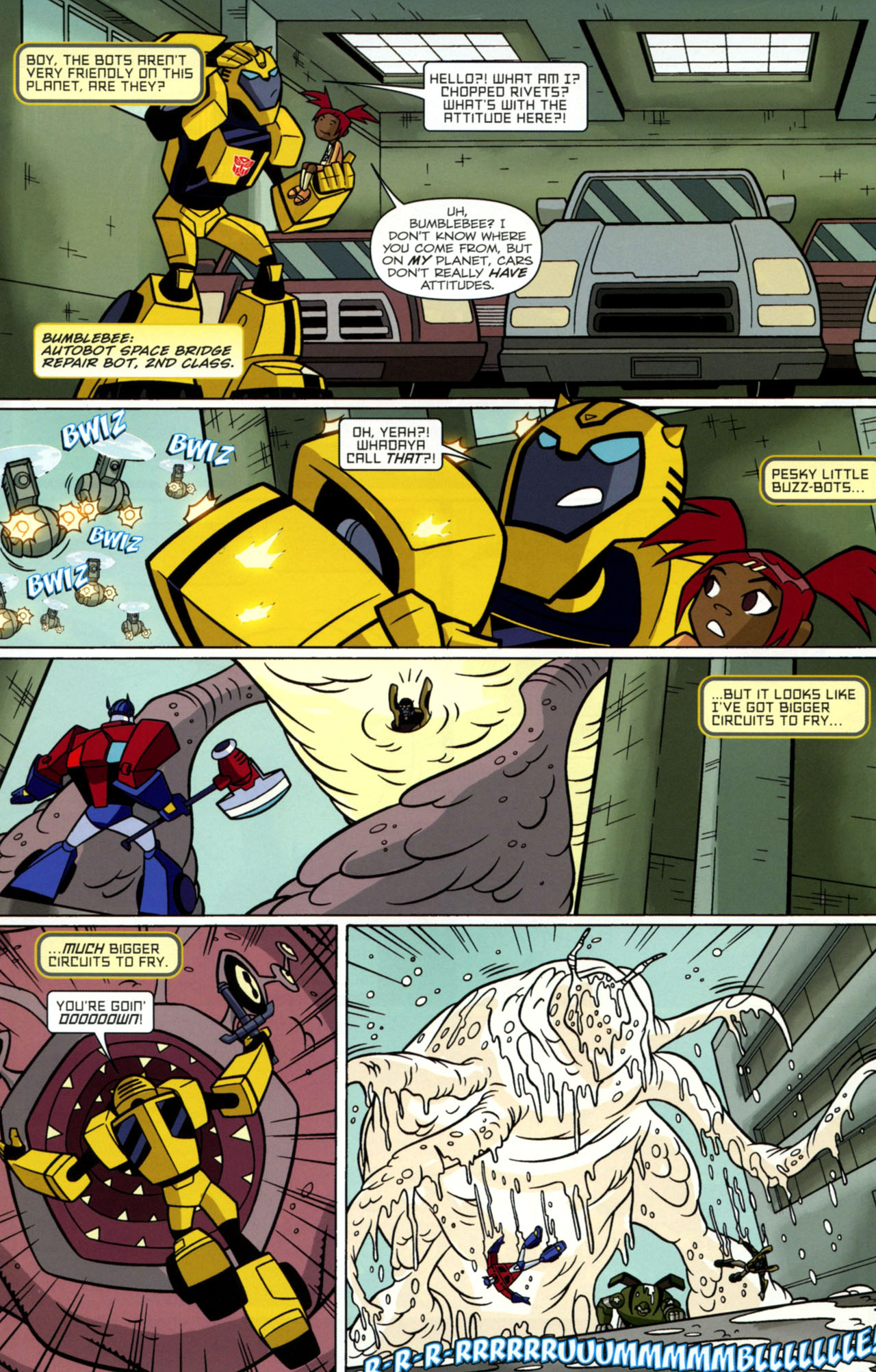 Read online Transformers Animated: The Arrival comic -  Issue #1 - 16