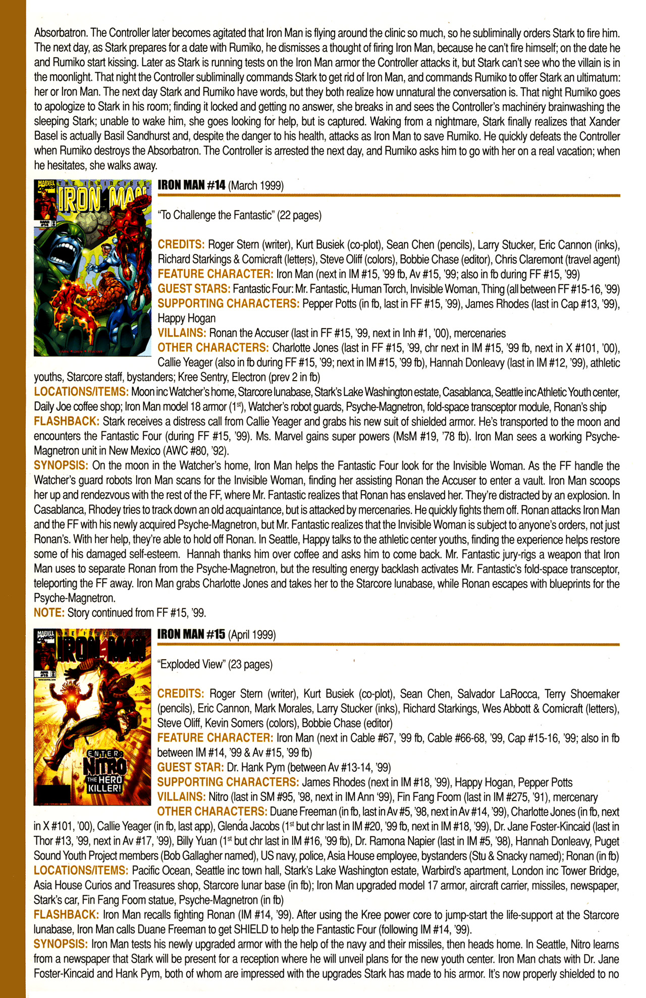Read online Official Index to the Marvel Universe comic -  Issue #10 - 34