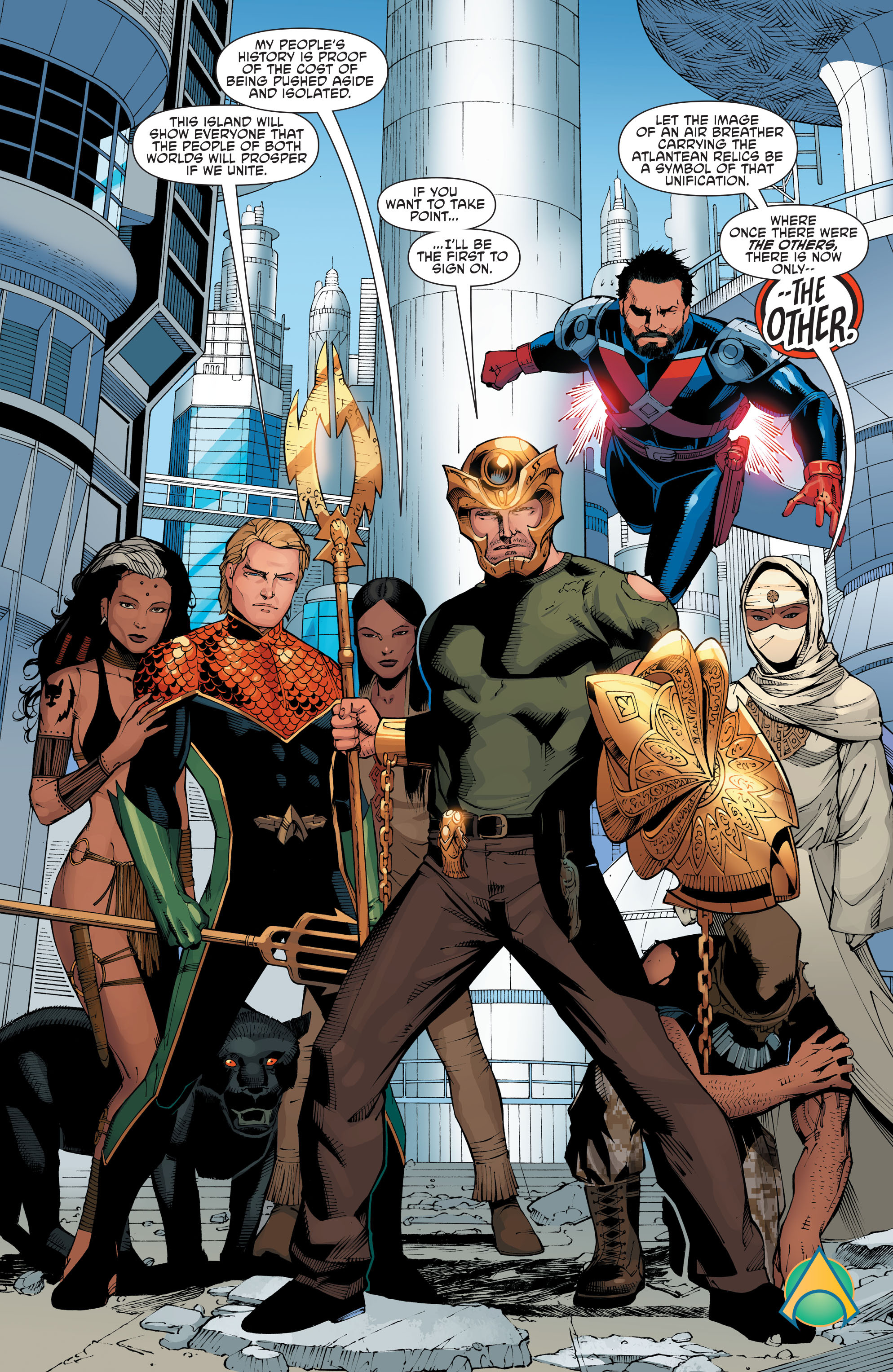 Read online Aquaman and the Others: Futures End comic -  Issue #Aquaman and the Others: Futures End Full - 21