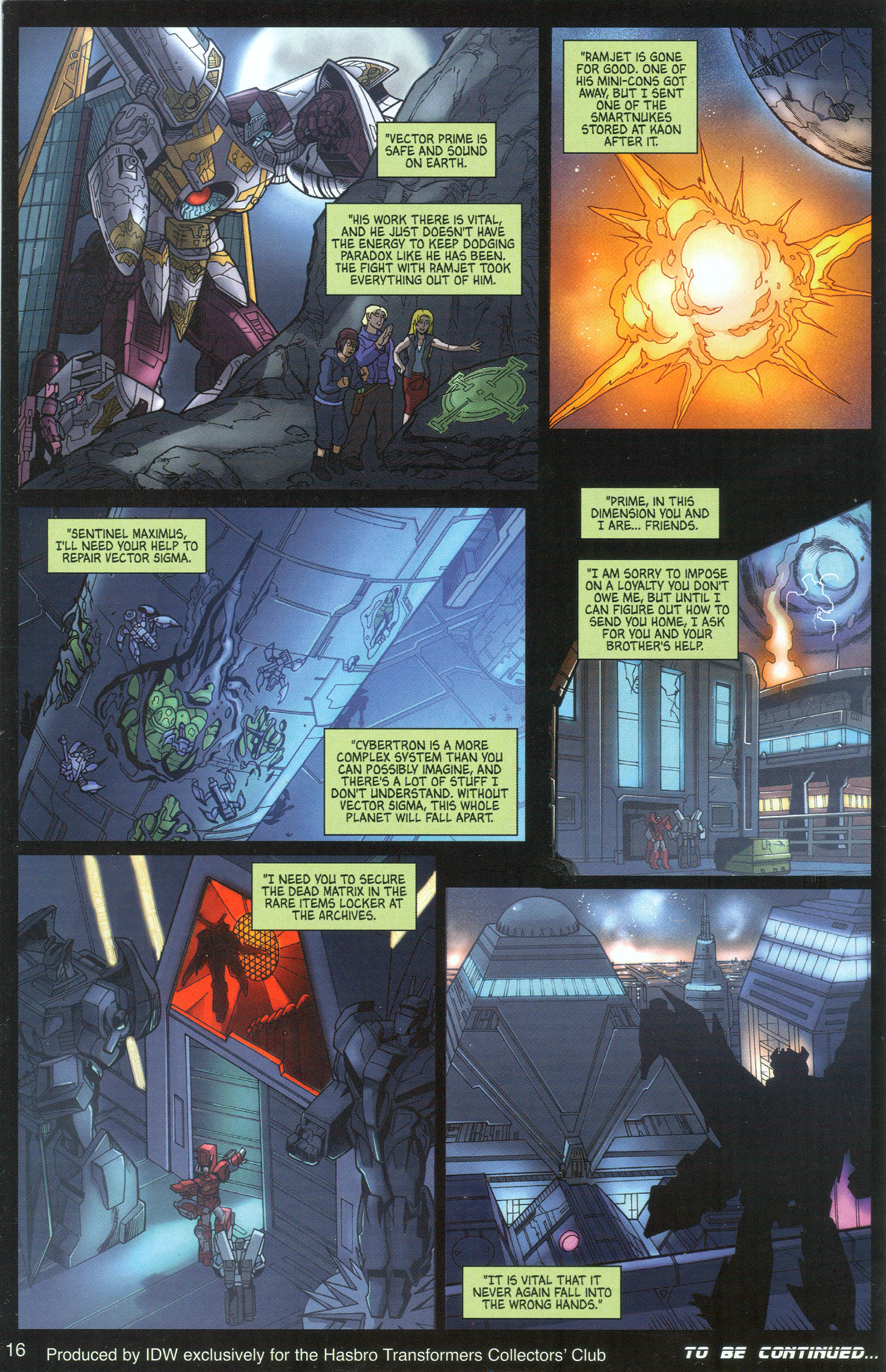 Read online Transformers: Collectors' Club comic -  Issue #8 - 16