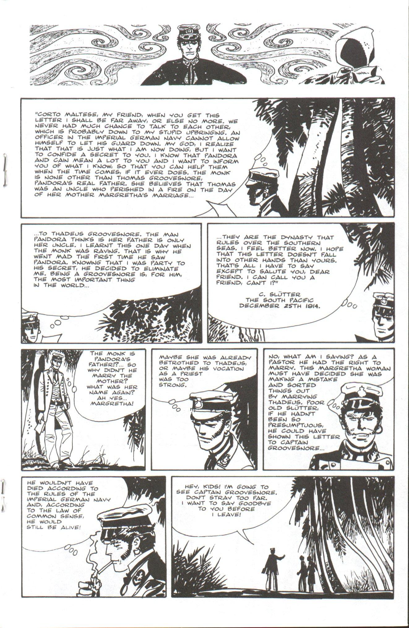 Read online Corto Maltese: Ballad of the Salt Sea comic -  Issue #7 - 15
