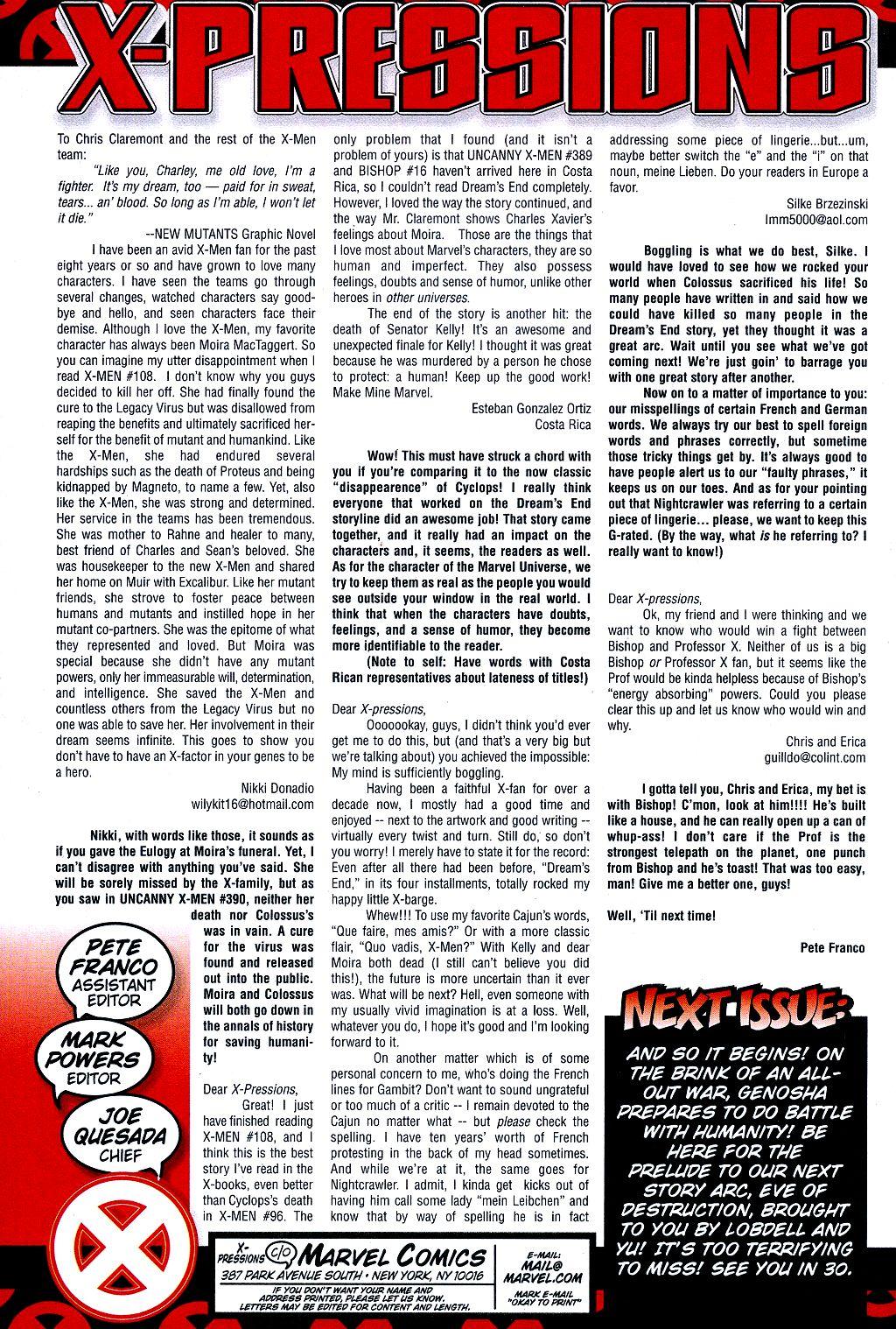 X-Men (1991) 110 Page 21