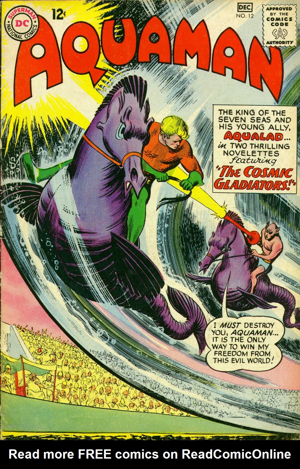 Read online Aquaman (1962) comic -  Issue #12 - 1