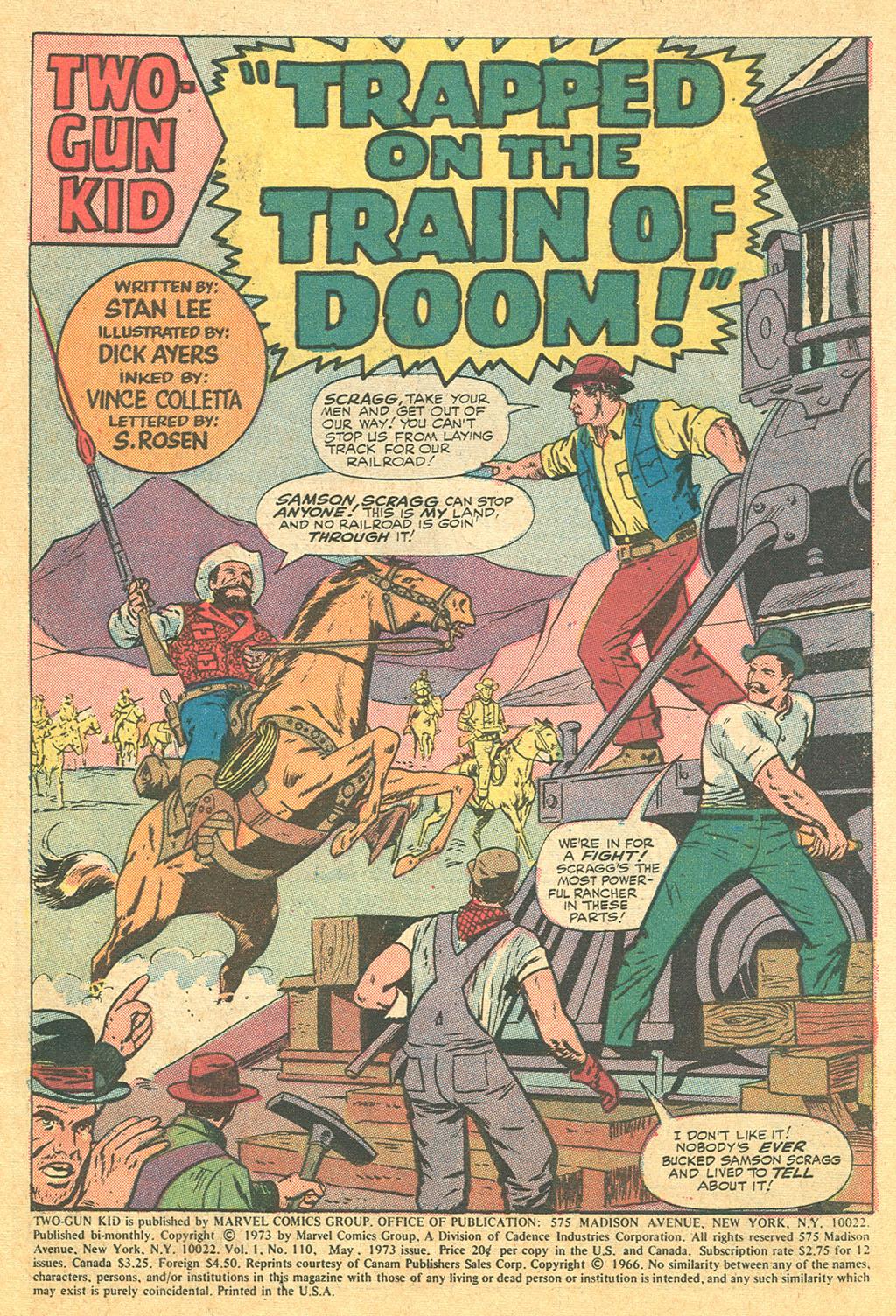 Read online Two-Gun Kid comic -  Issue #110 - 3