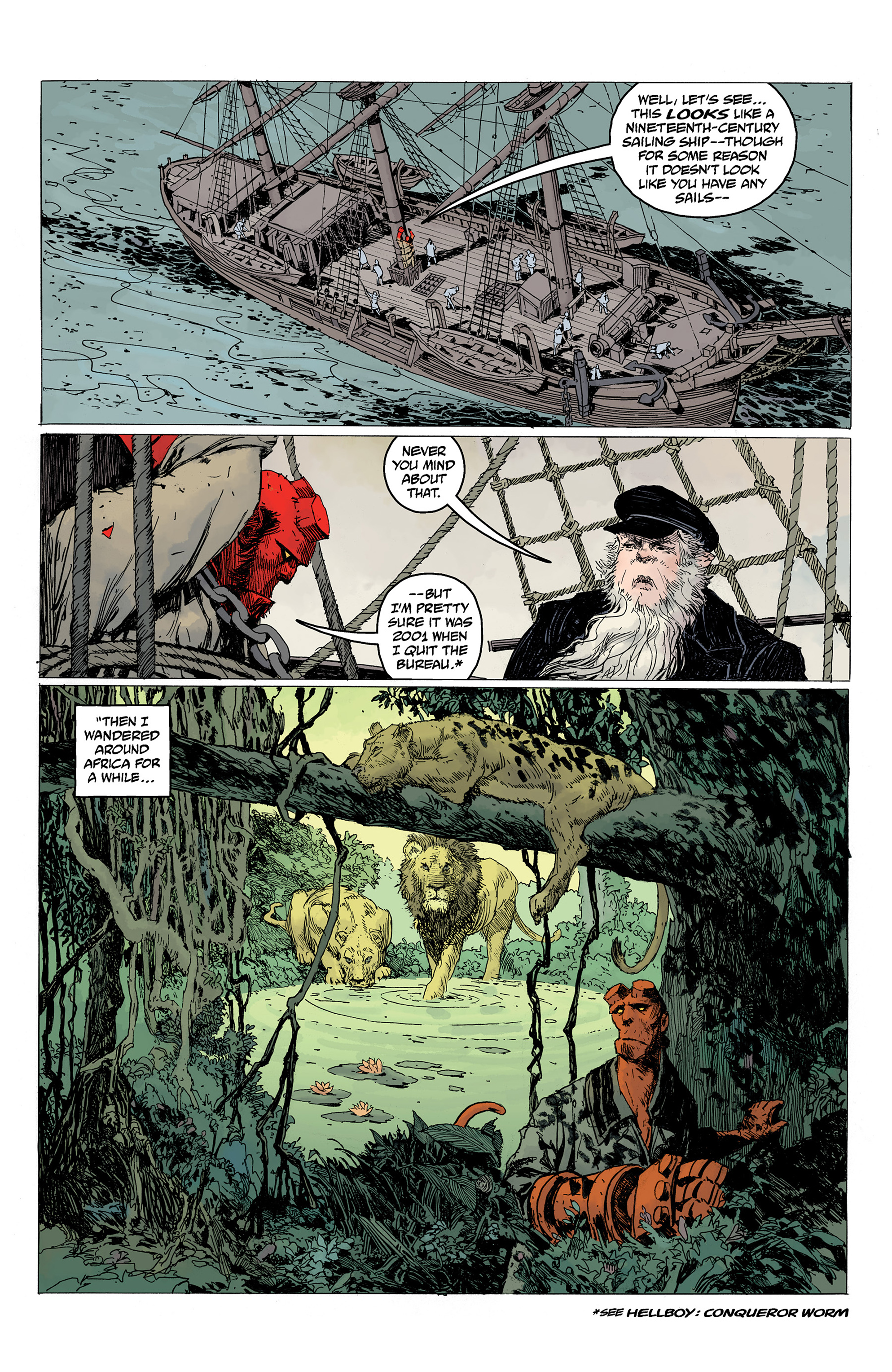 Read online Hellboy: Into the Silent Sea comic -  Issue # Full - 18