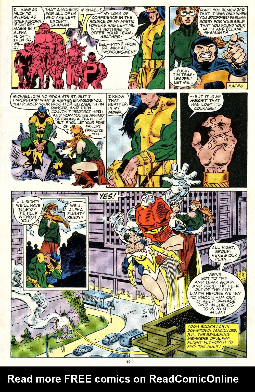 Read online Alpha Flight (1983) comic -  Issue #29 - 12