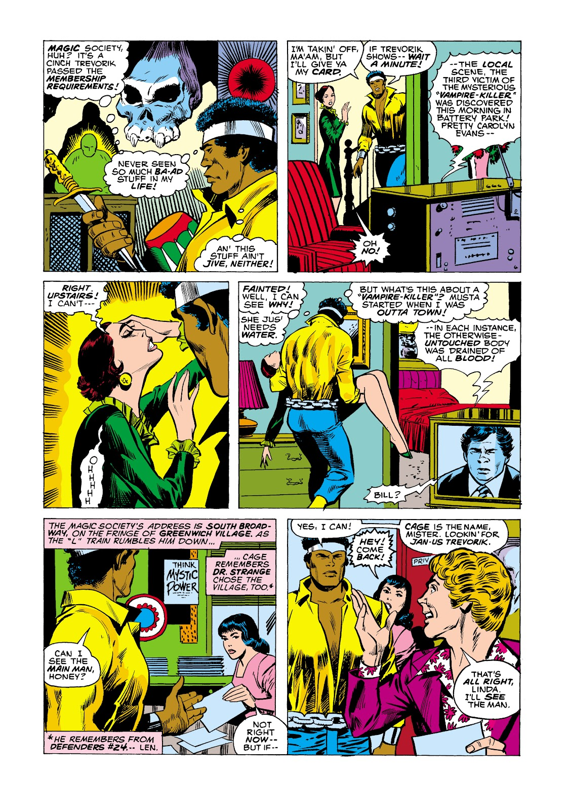 Read online Marvel Masterworks: Luke Cage, Power Man comic -  Issue # TPB 2 (Part 2) - 88