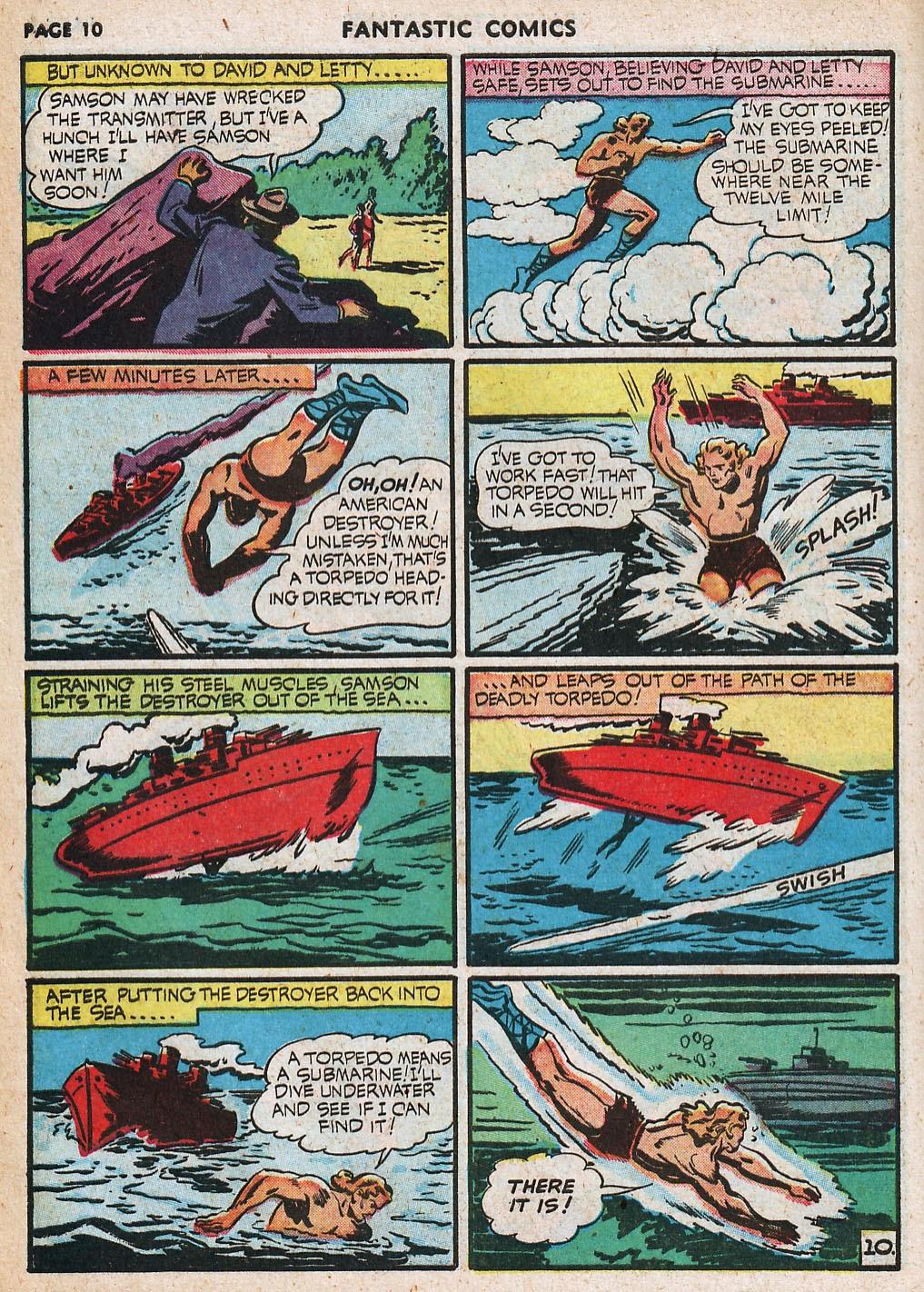 Read online Fantastic Comics comic -  Issue #20 - 11