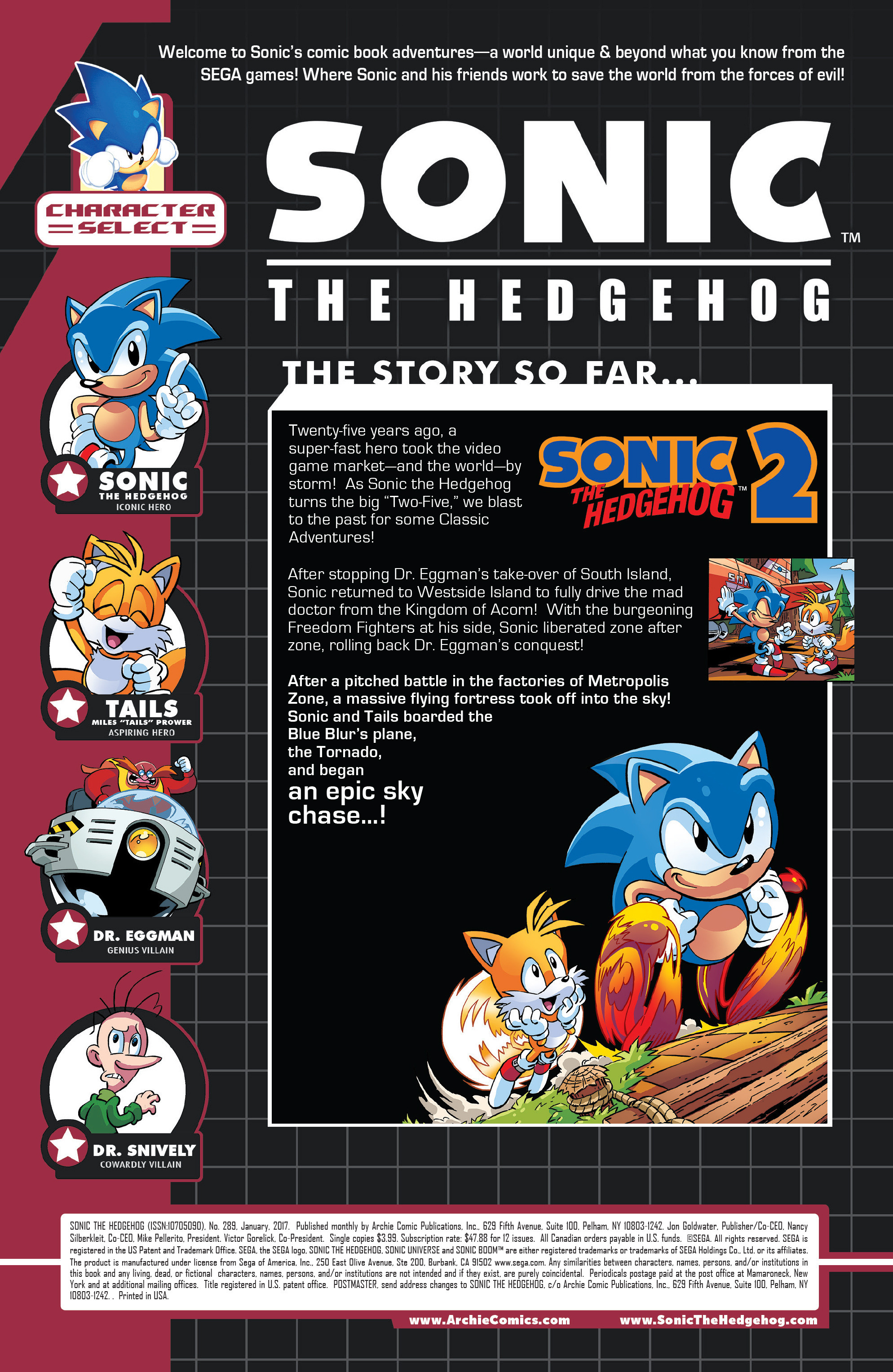 Read online Sonic The Hedgehog comic -  Issue #289 - 2