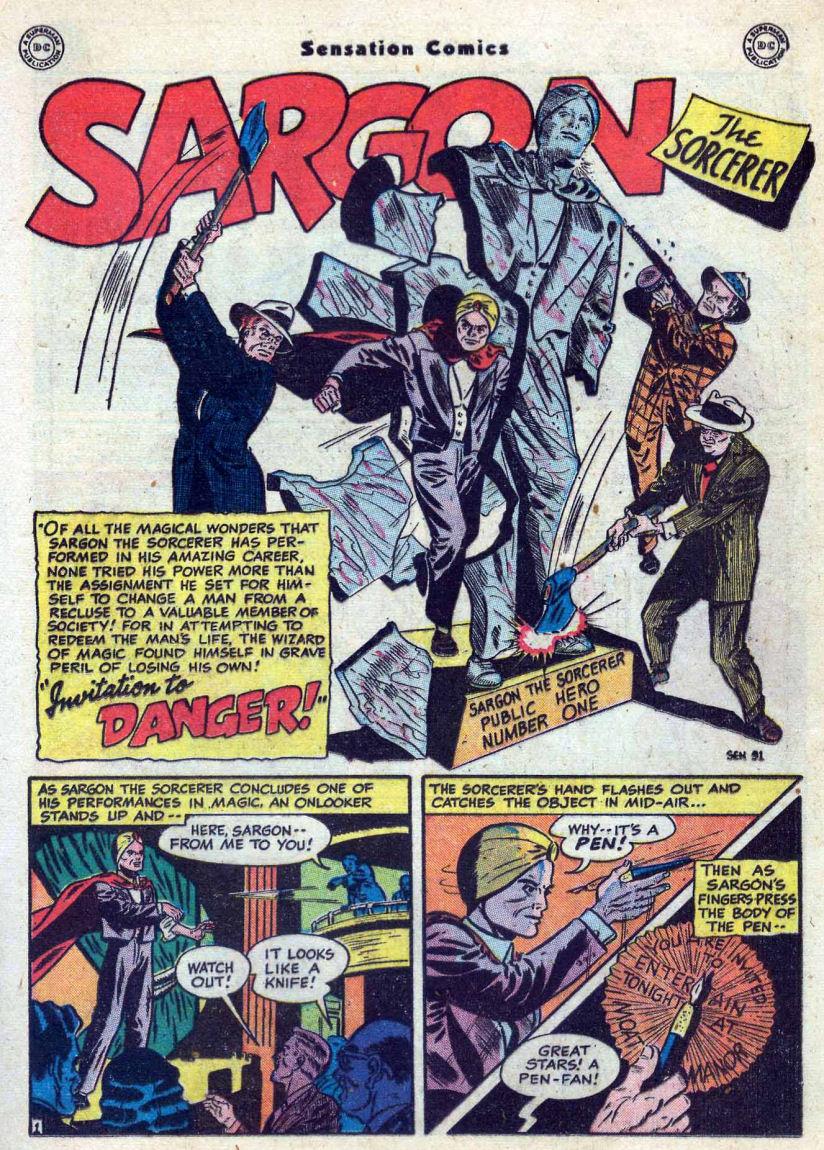 Read online Sensation (Mystery) Comics comic -  Issue #82 - 25