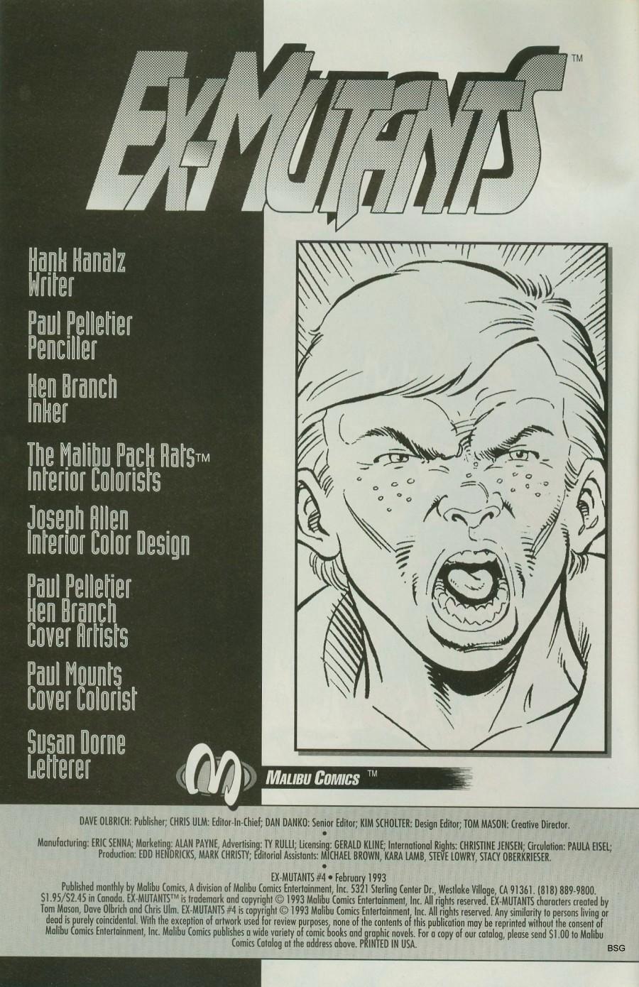Read online Ex-Mutants comic -  Issue #4 - 2