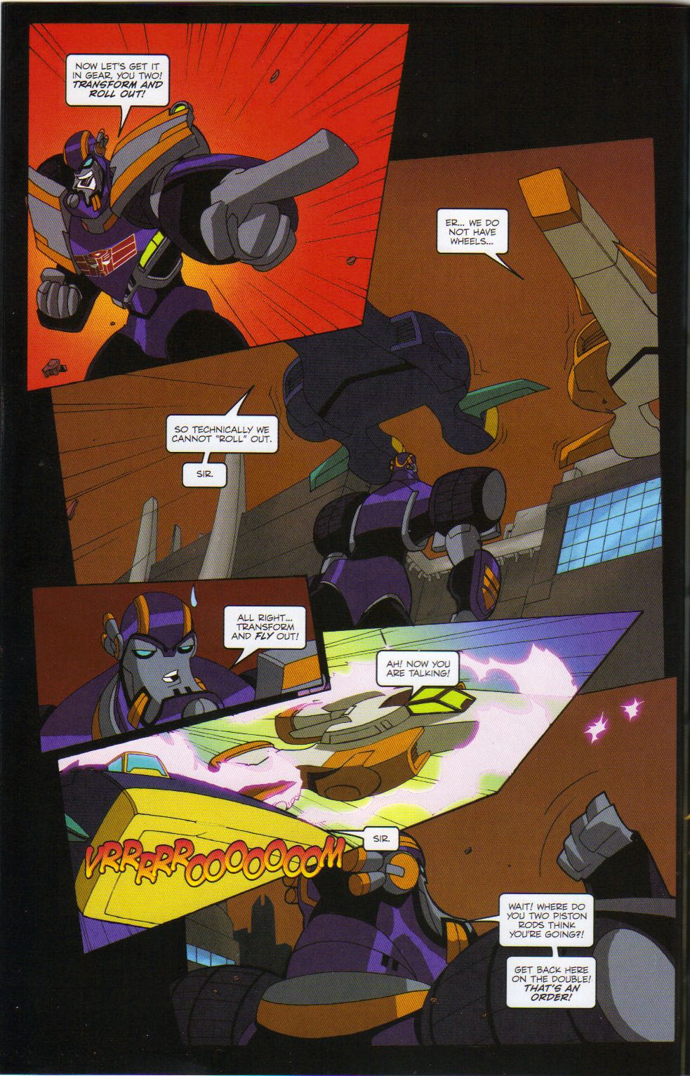 Read online Transformers Animated: The Arrival comic -  Issue #6 - 12