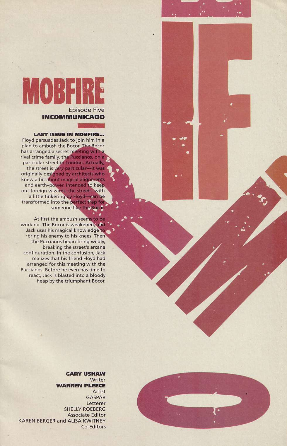 Read online Mobfire comic -  Issue #5 - 2
