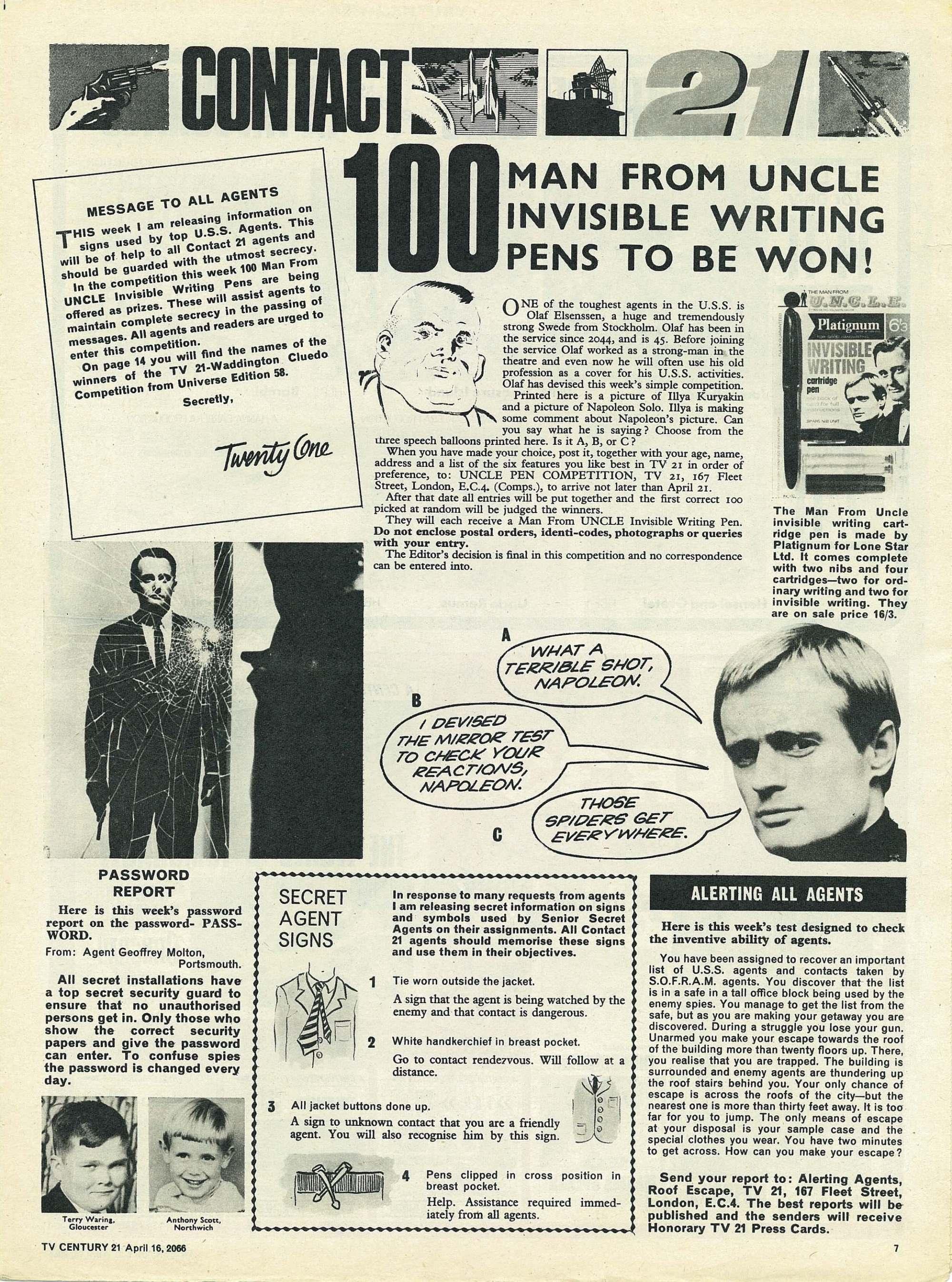 Read online TV Century 21 (TV 21) comic -  Issue #65 - 7