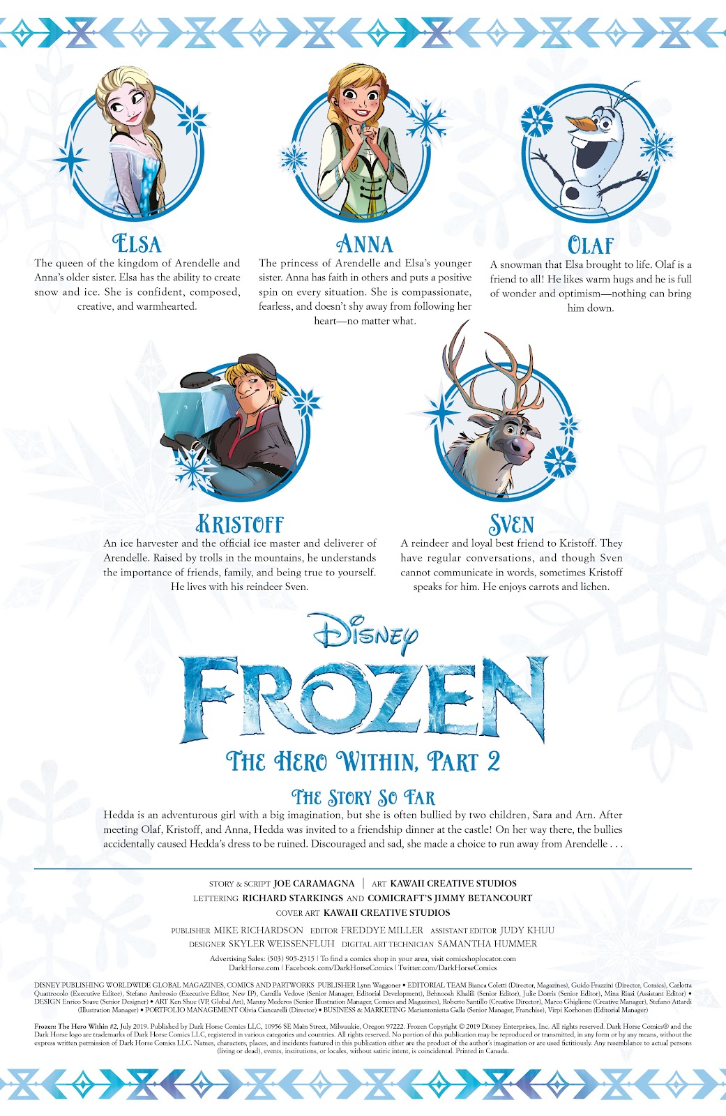 Read online Disney Frozen: The Hero Within comic -  Issue #2 - 2