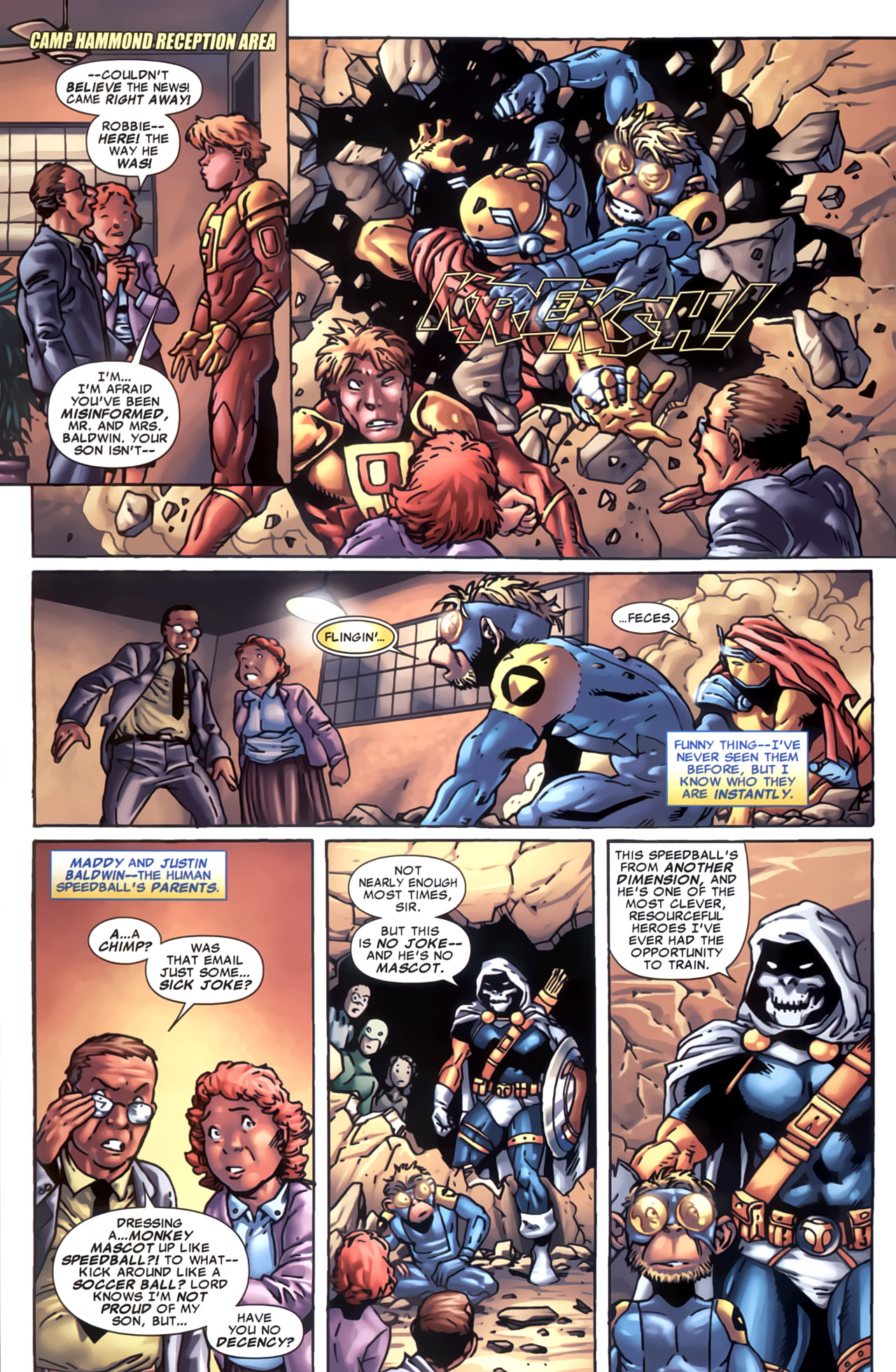 Read online Marvel Apes: Speedball Special comic -  Issue # Full - 11