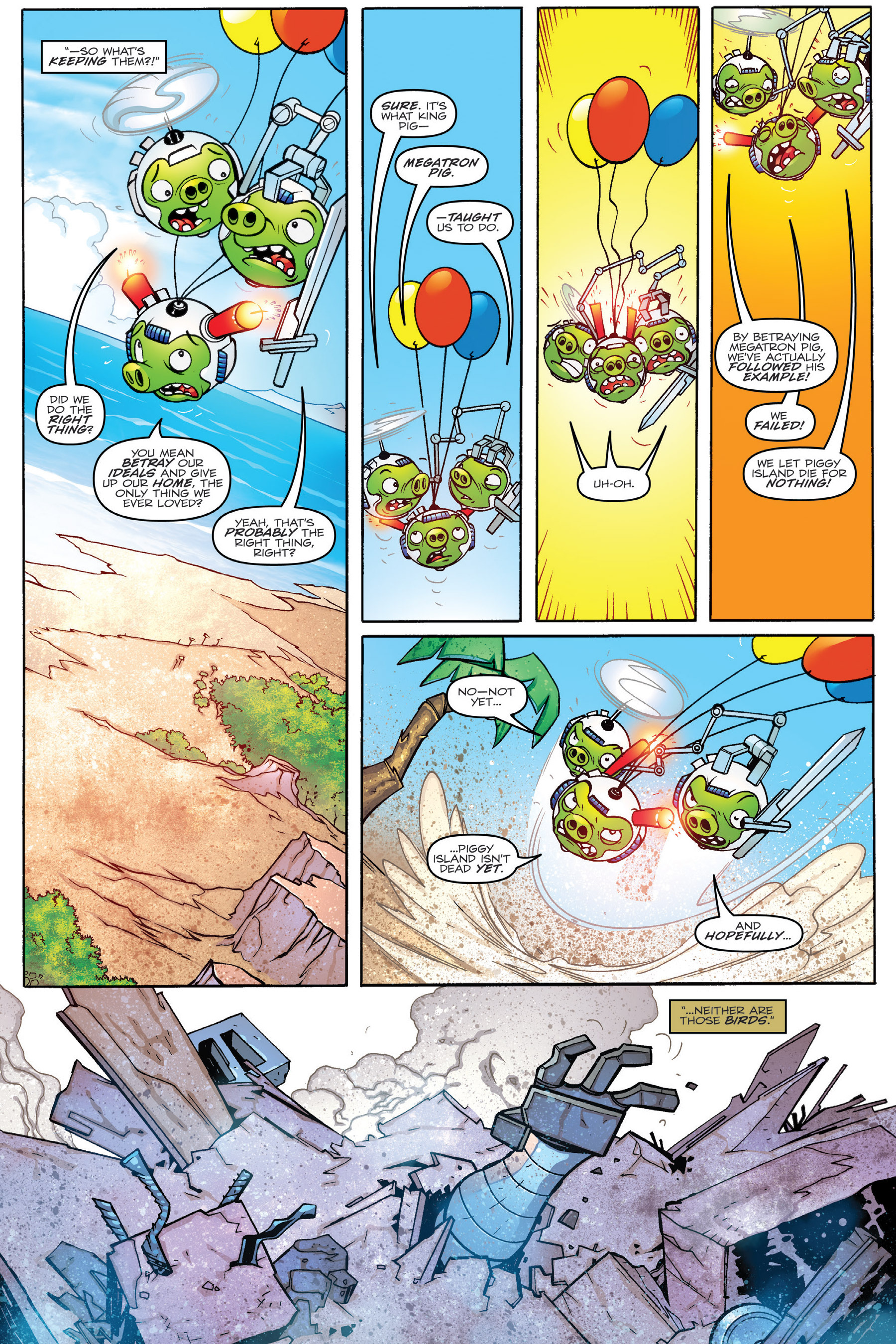 Read online Angry Birds Transformers: Age of Eggstinction comic -  Issue # Full - 78