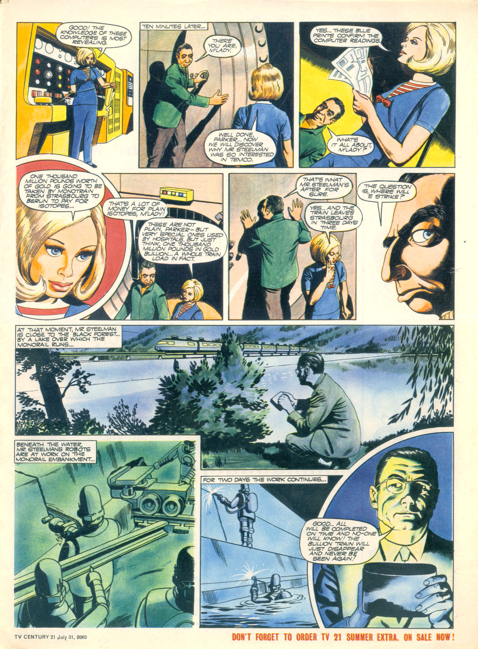 Read online TV Century 21 (TV 21) comic -  Issue #28 - 23