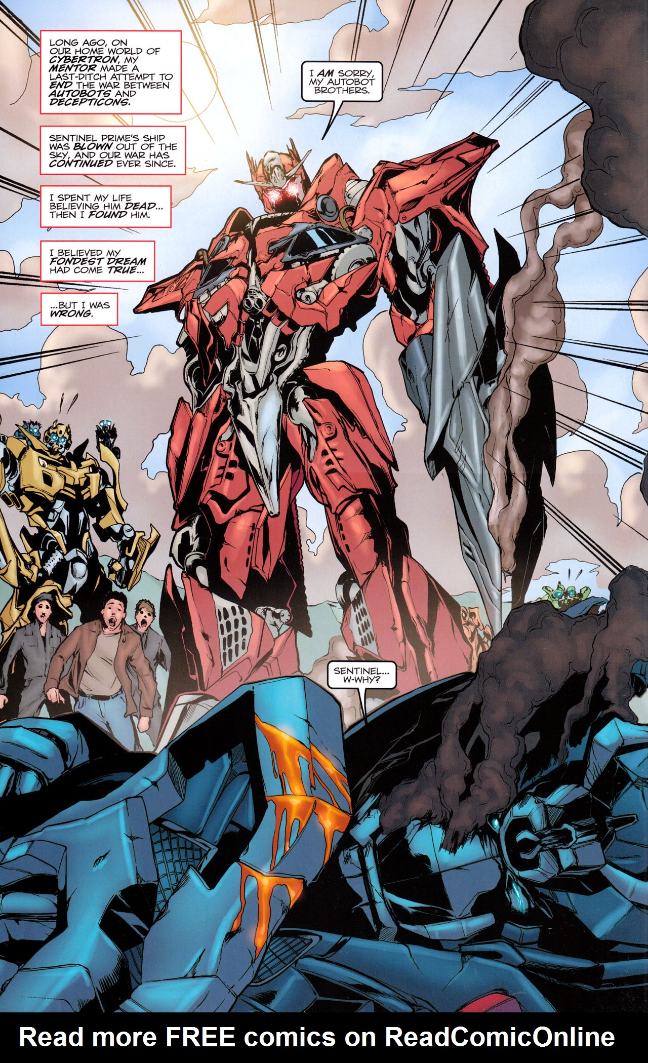 Read online Transformers: Dark of the Moon Movie Adaptation comic -  Issue #3 - 3