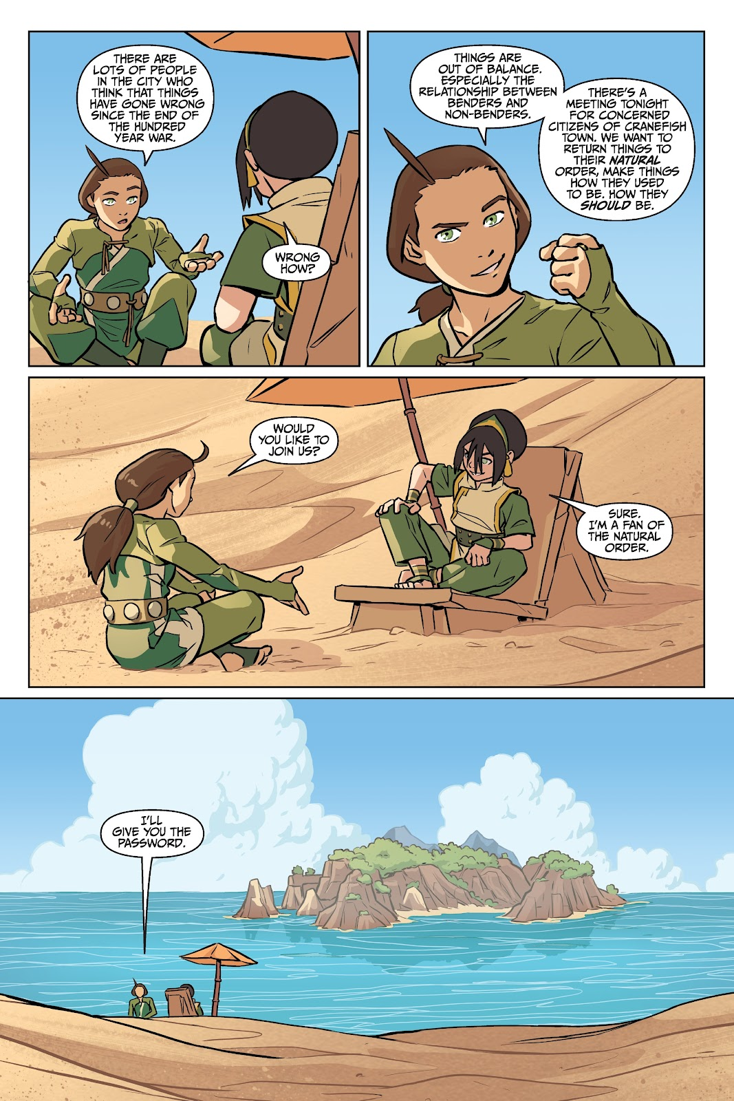 Read online Nickelodeon Avatar: The Last Airbender - Imbalance comic -  Issue # TPB 2 - 37