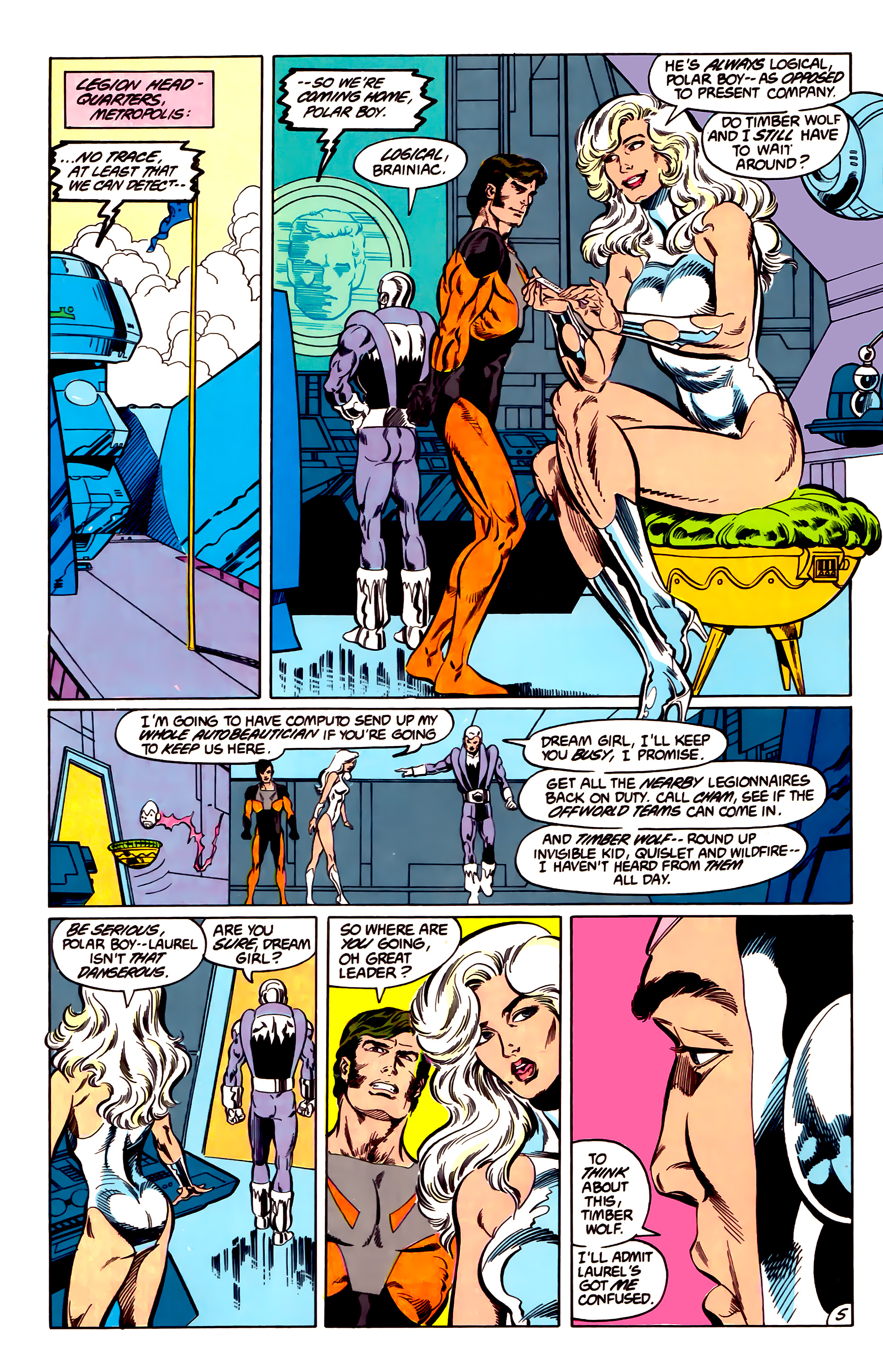 Legion of Super-Heroes (1984) 43 Page 5