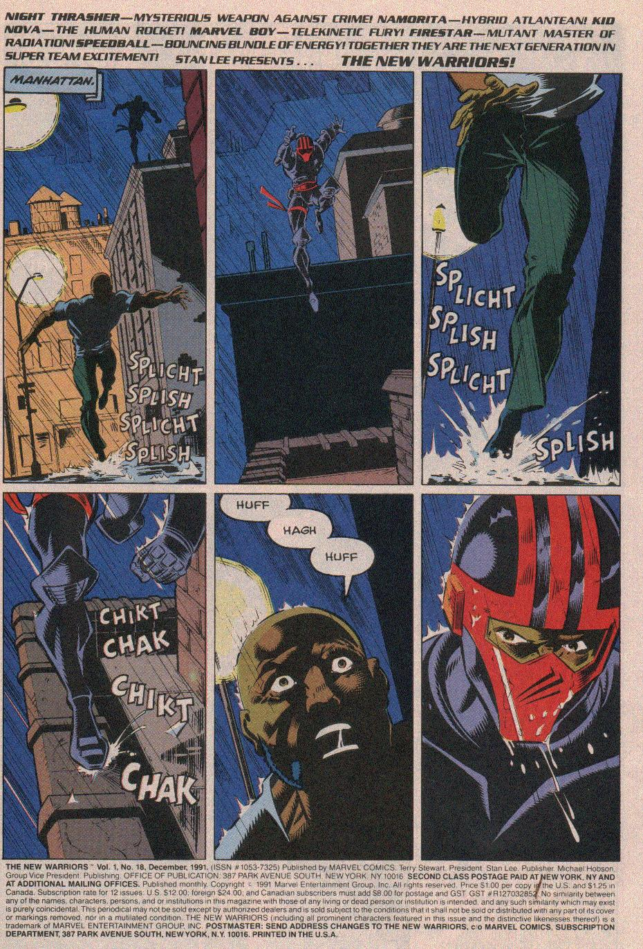 The New Warriors Issue #18 #22 - English 2