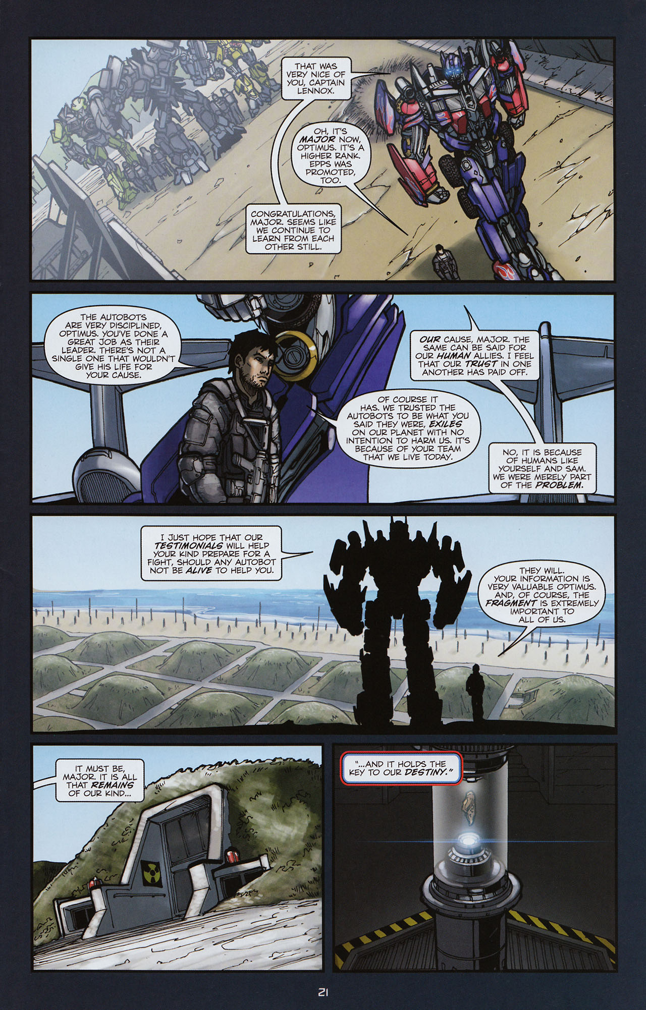 Read online Transformers: Alliance comic -  Issue #3 - 22